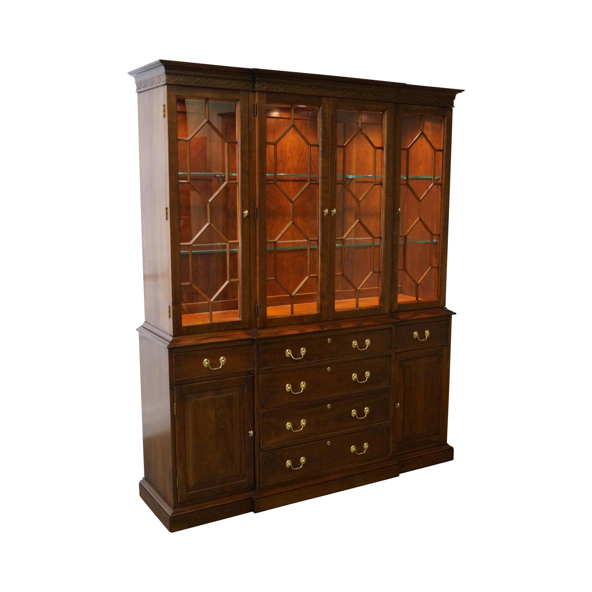 Harden Chippendale Style Cherry China Cabinet Chairish