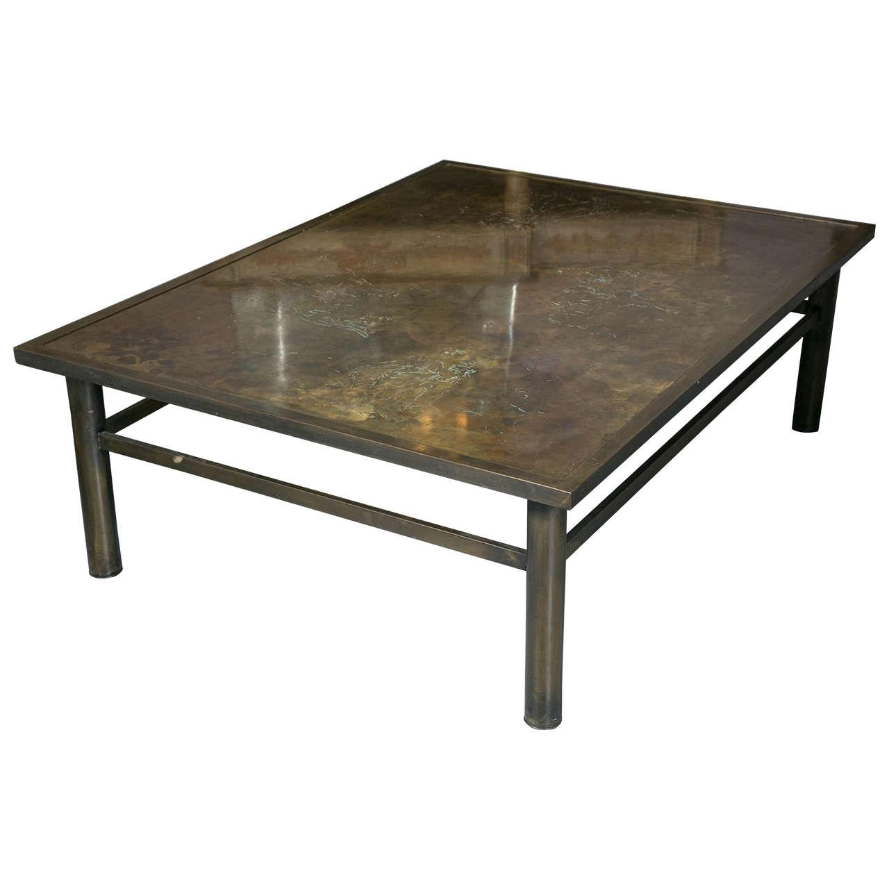 Philip kelvin laverne bronze coffee table chairish geotapseo Image collections