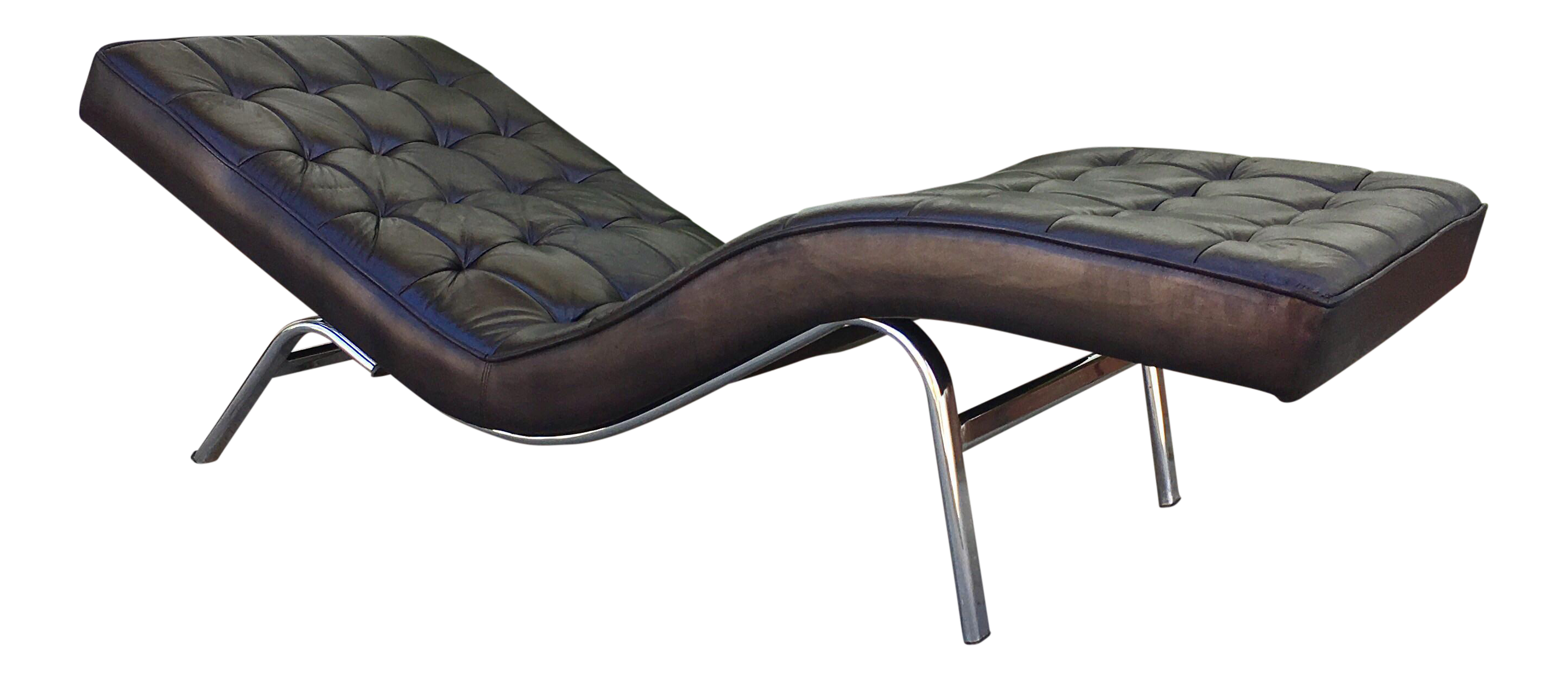 sc 1 st  Chairish : black leather chaise lounge chairs - Sectionals, Sofas & Couches