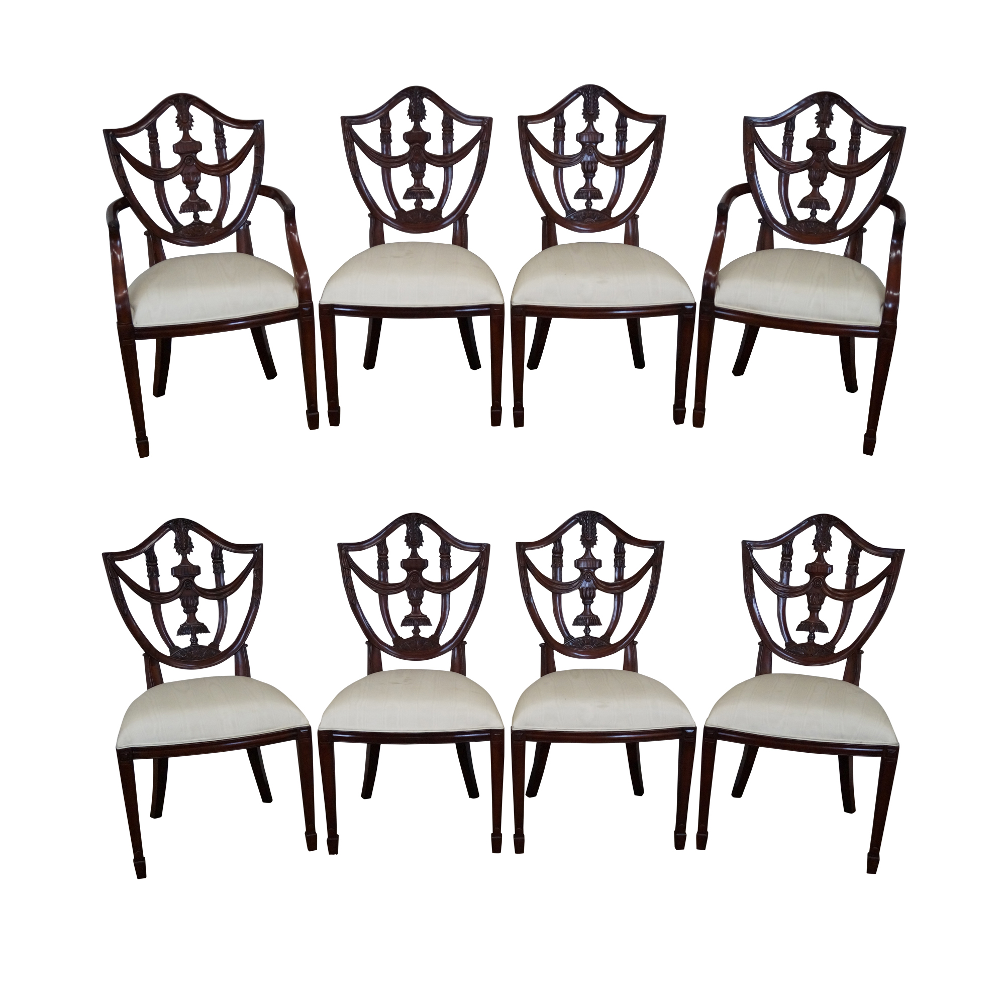Maitland Smith Mahogany Shield Back Chairs 8 Chairish