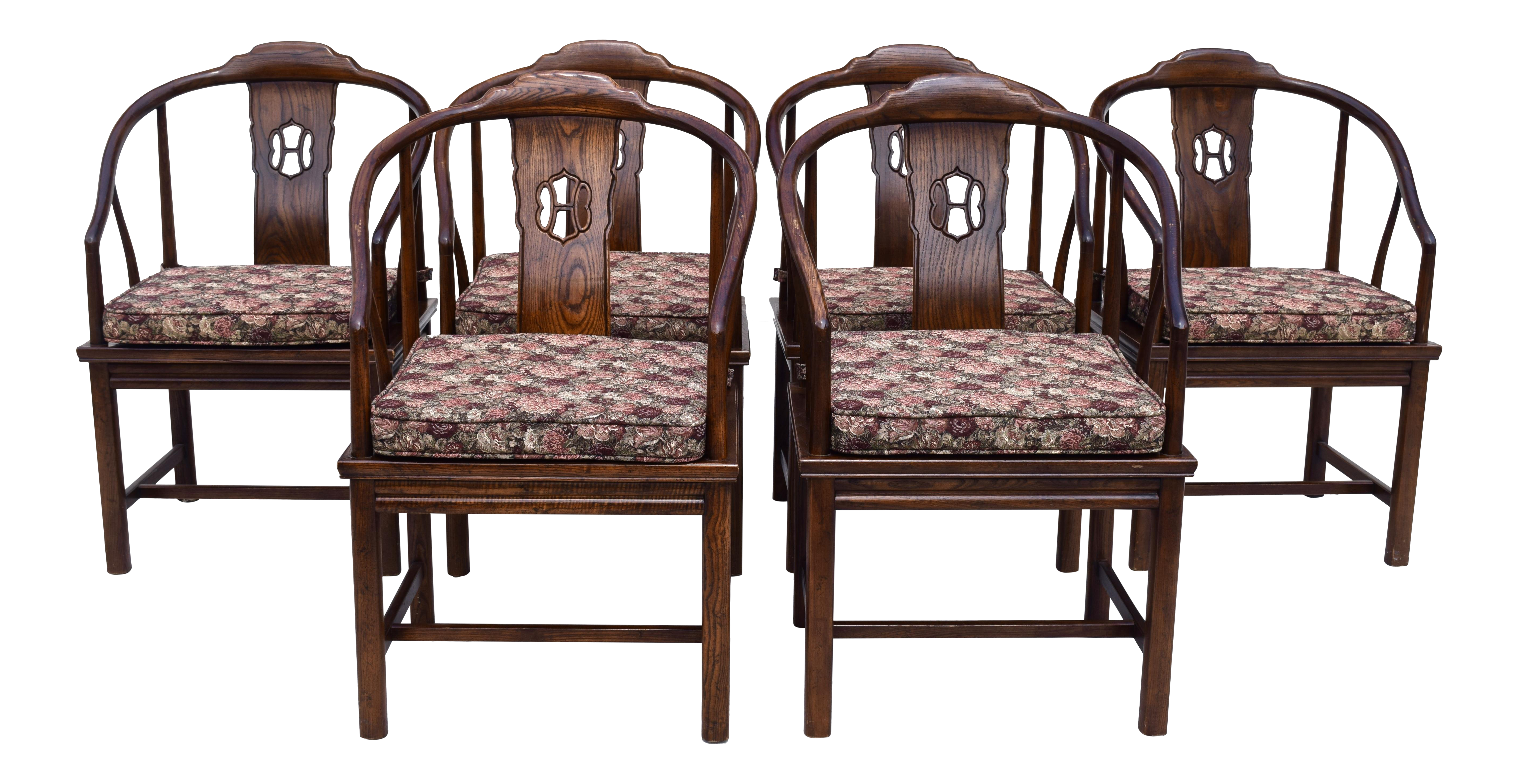 Henredon Chinoiserie Dining Room Chairs Set of 6