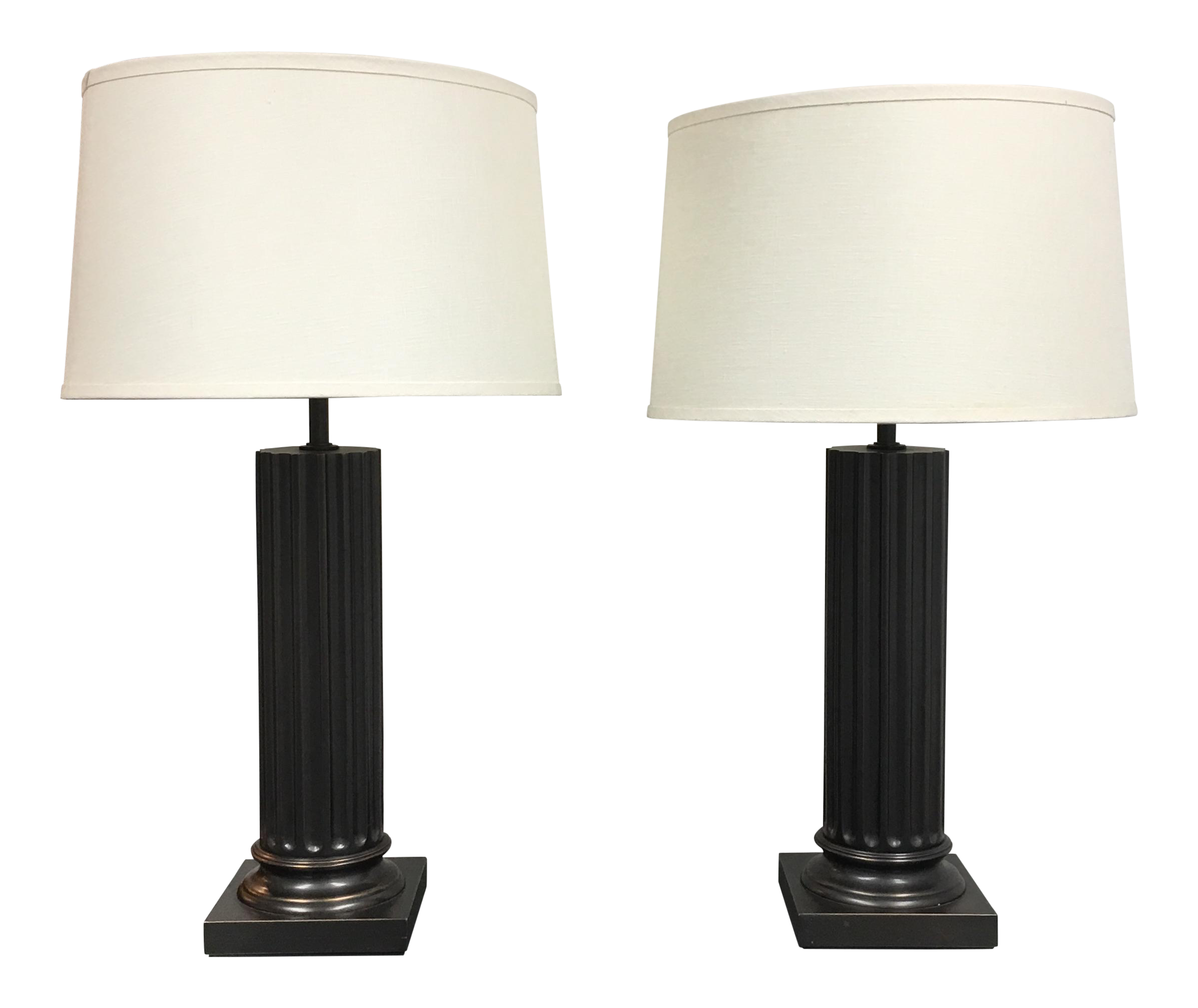 Restoration hardware column table lamps a pair chairish - Restoration hardware lamps table ...