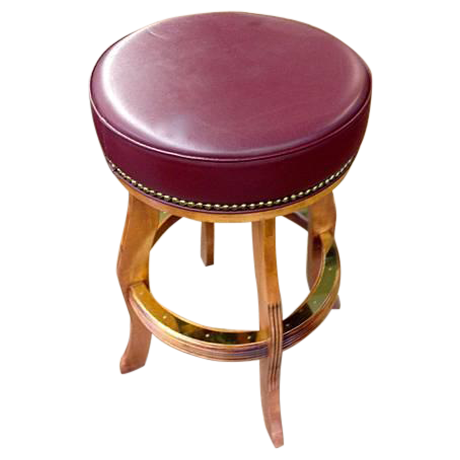 Maroon Round Bar Stool Chairish