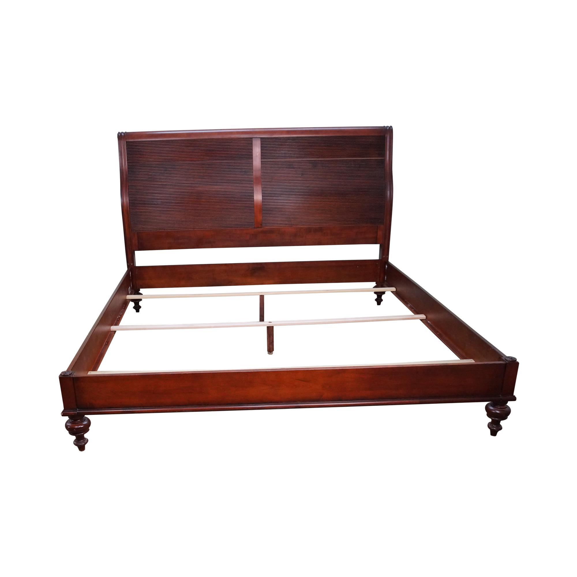 Ethan allen british classics king size kingston bed chairish for Ethan allen king size beds