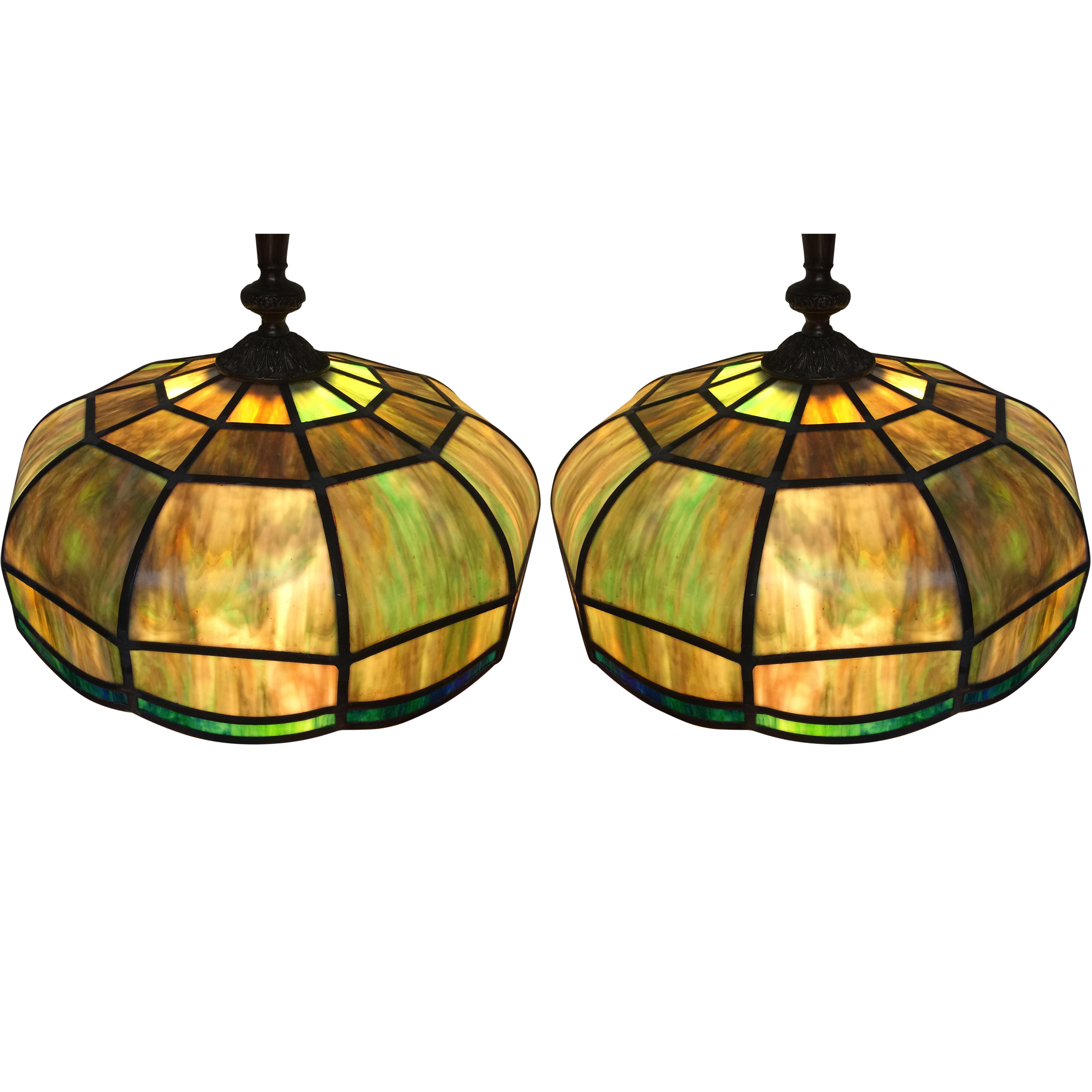 Stained glass light fixtures