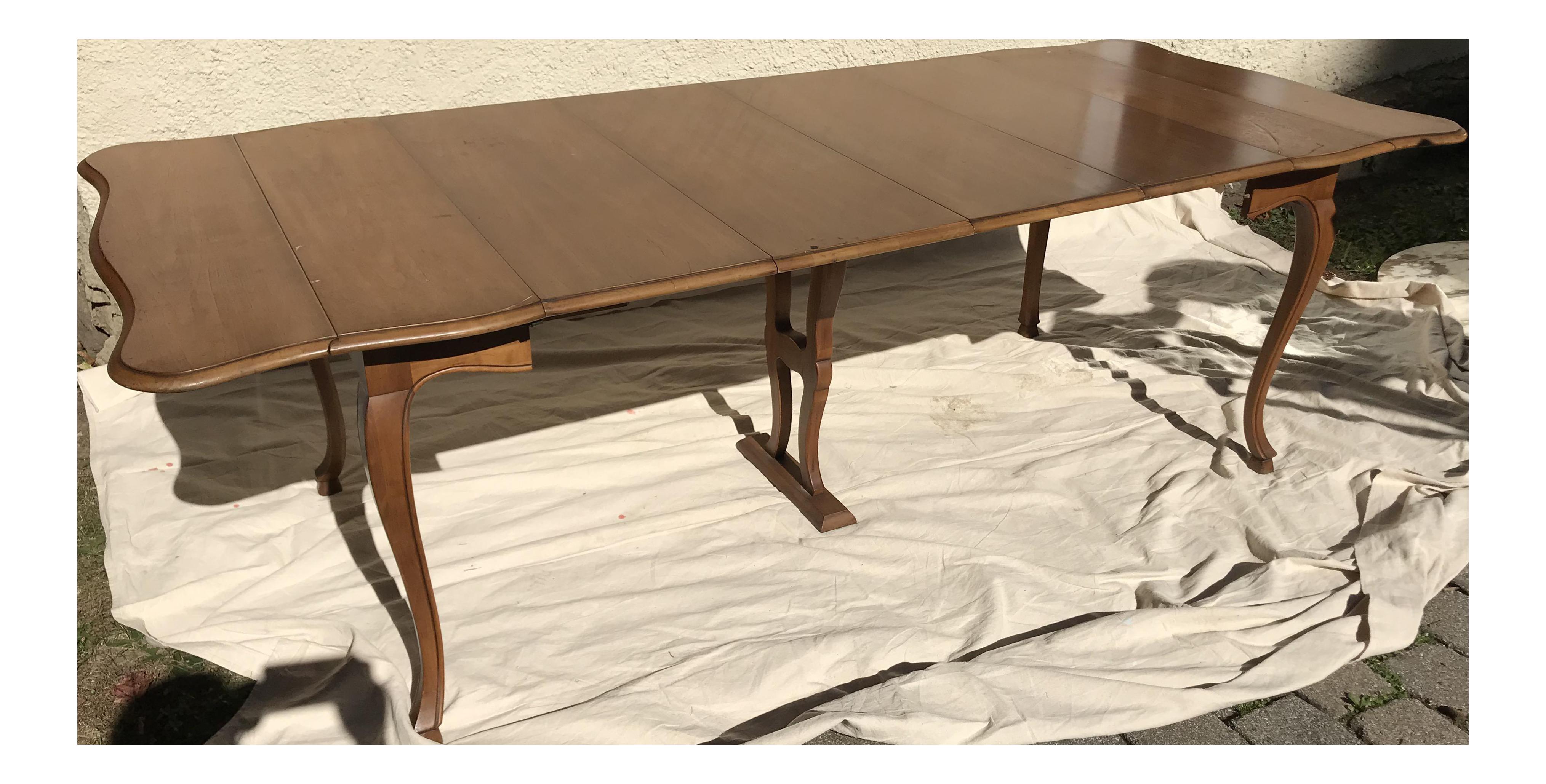 . John Widdicomb Watertown Slide Harp Dining Table   Chairish