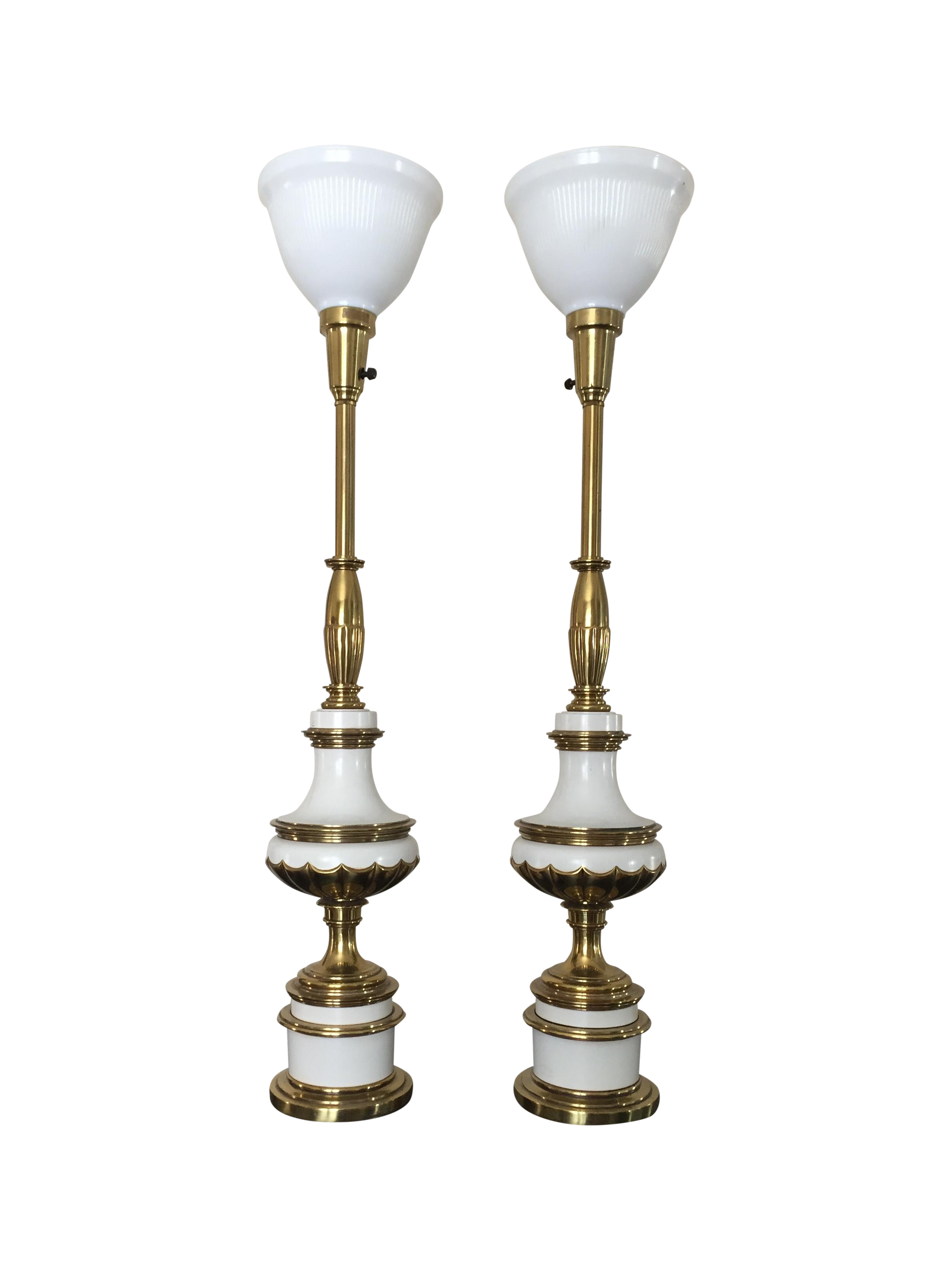 Hollywood Regency Stiffel Torchiere Lamps Pair Chairish