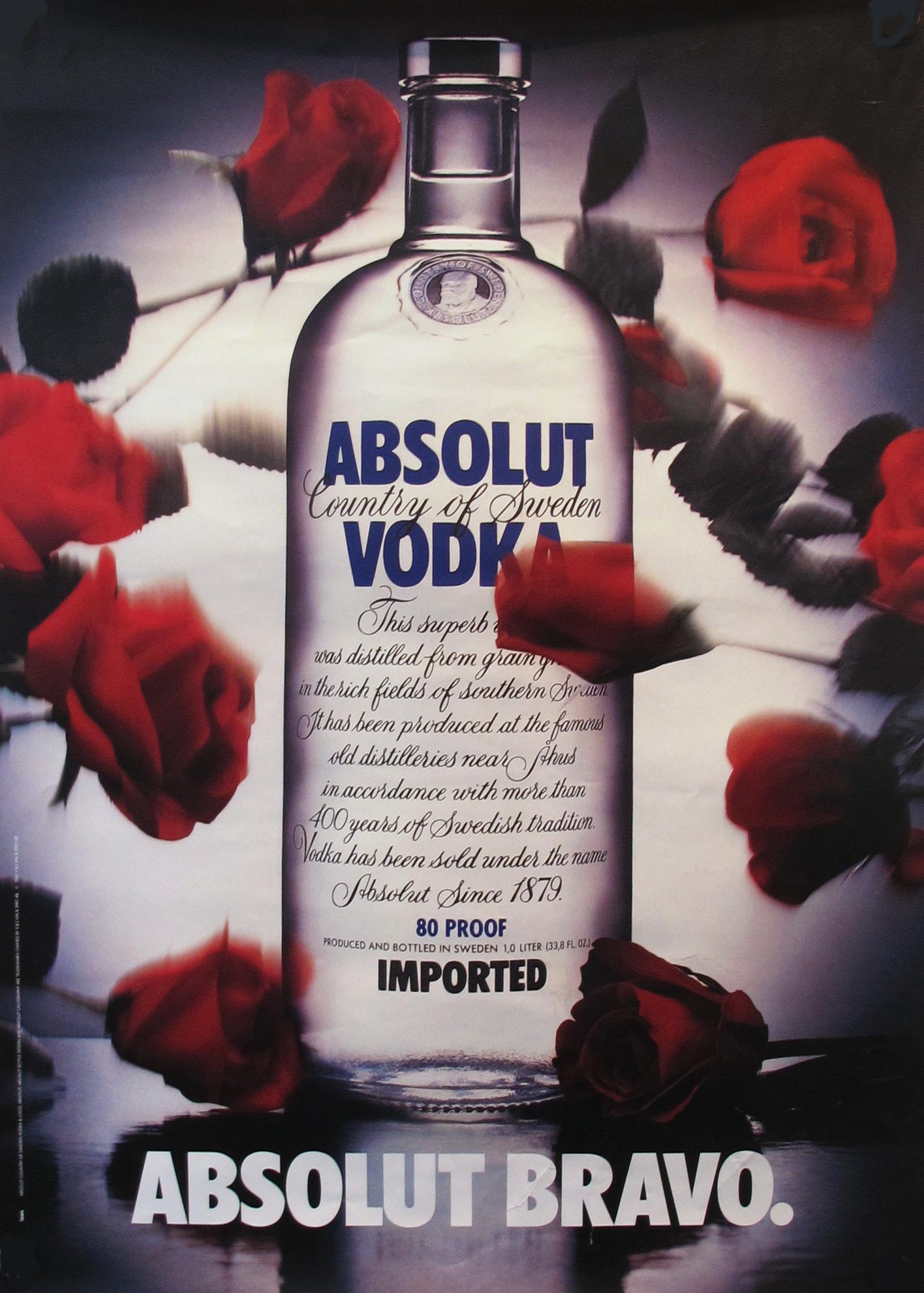 1985 Absolut Vodka Advertisement Absolut Bravo Chairish