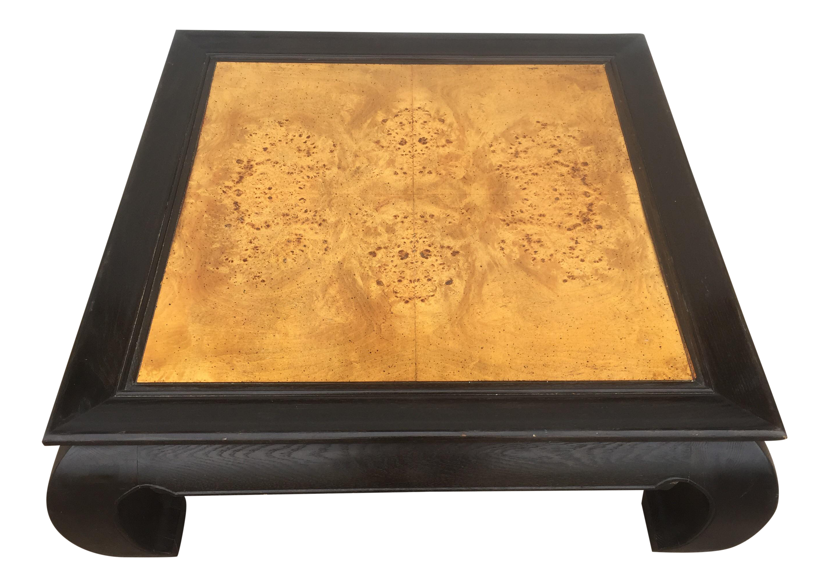 Asian Style Burl Wood Coffee Table