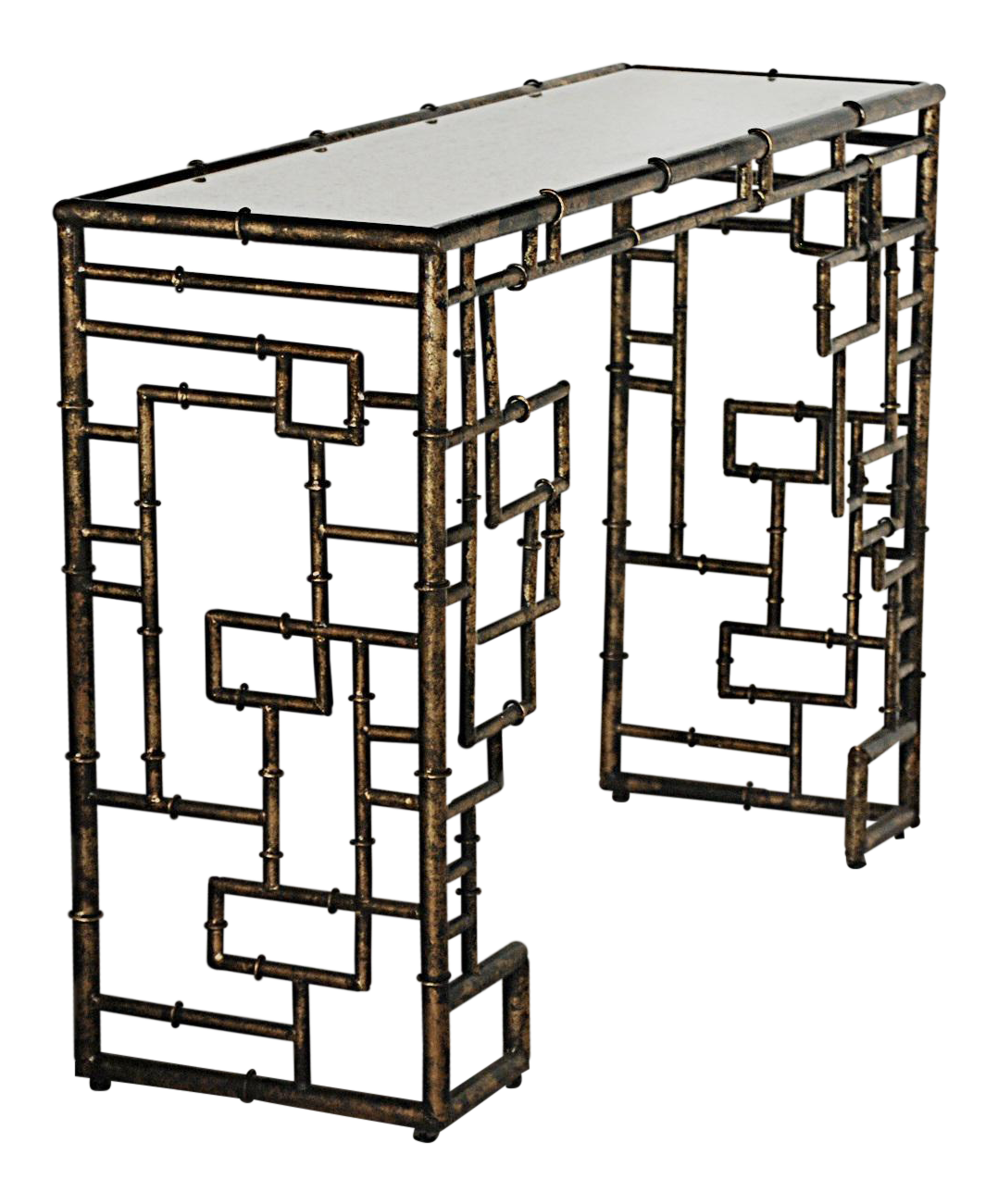 Hollywood Regency Style Faux Bamboo Console Table Chairish