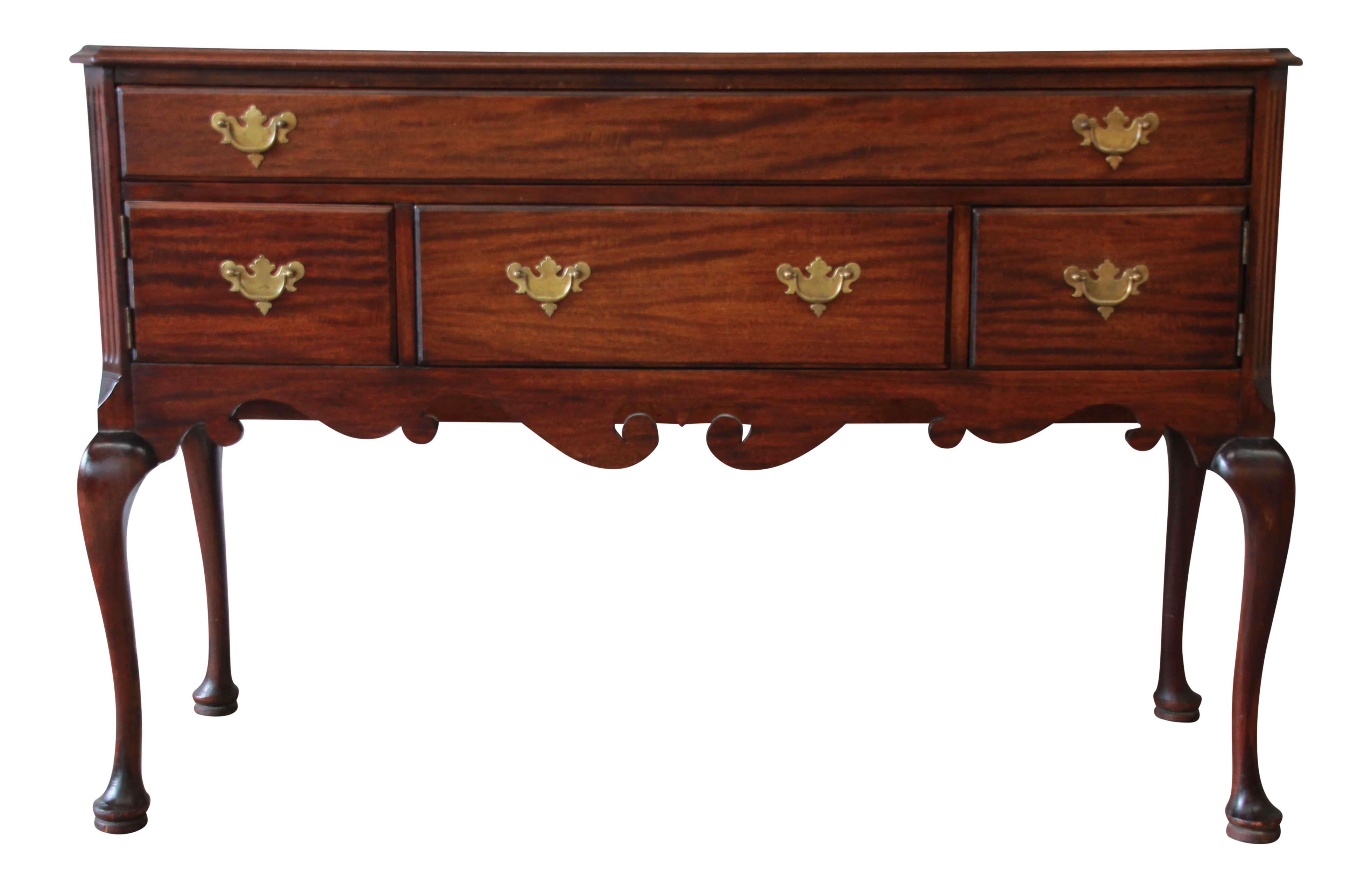 Baker Queen Anne Style Mahogany Sideboard Server Circa 1920