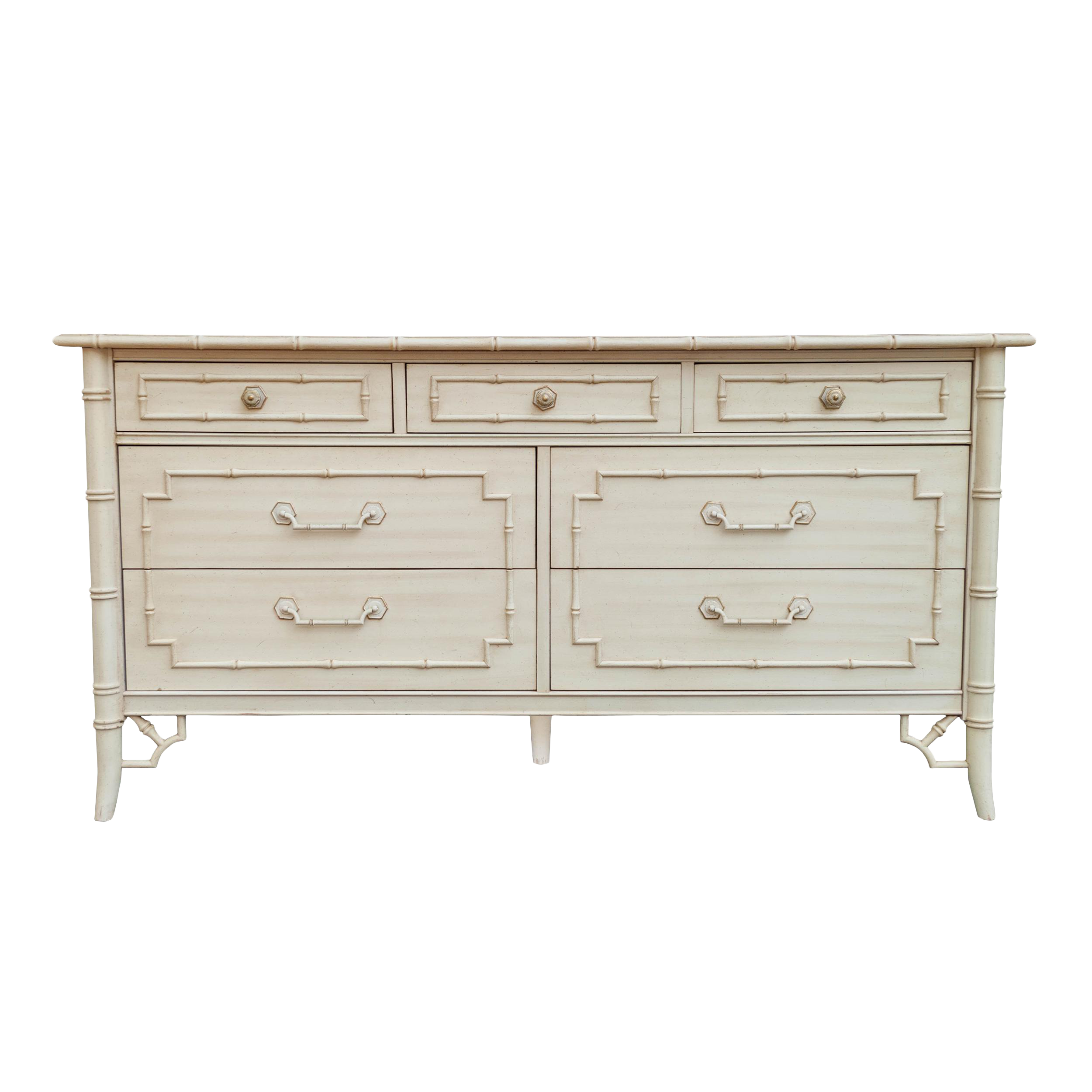 Gently used thomasville furniture up to 40 off at chairish vintage thomasville faux bamboo dresser geotapseo Choice Image