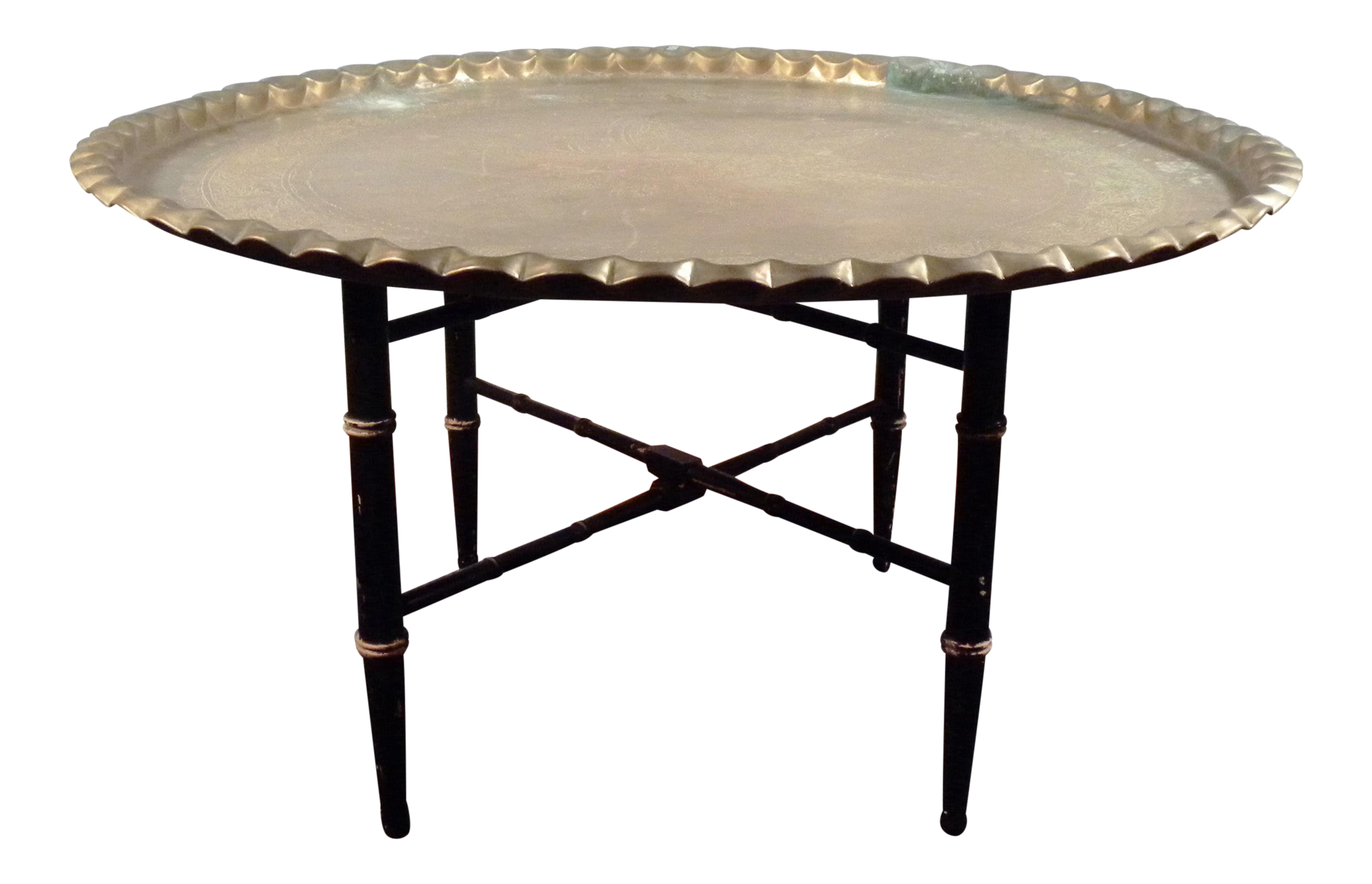 Mid Century Brass Moroccan Folding Coffee Table