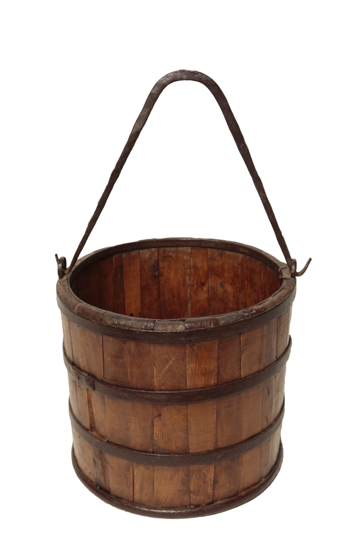 Antique Wood Amp Iron Bucket Chairish