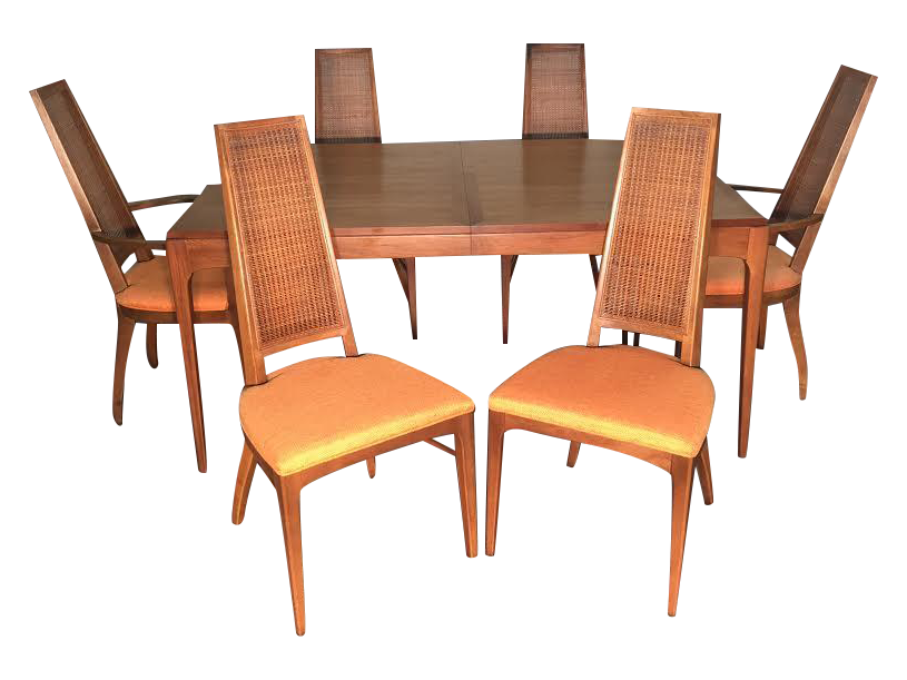 mid century dining set. dining room furniture mid century modern