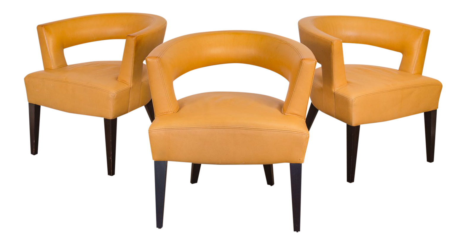 Distinguished Set Of Dakota Jackson Ringback Chairs Decaso
