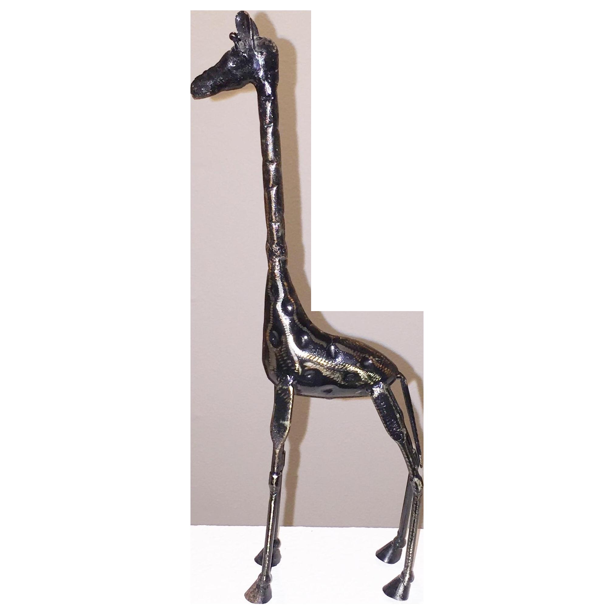 Tall Metal Giraffe Sculpture Chairish