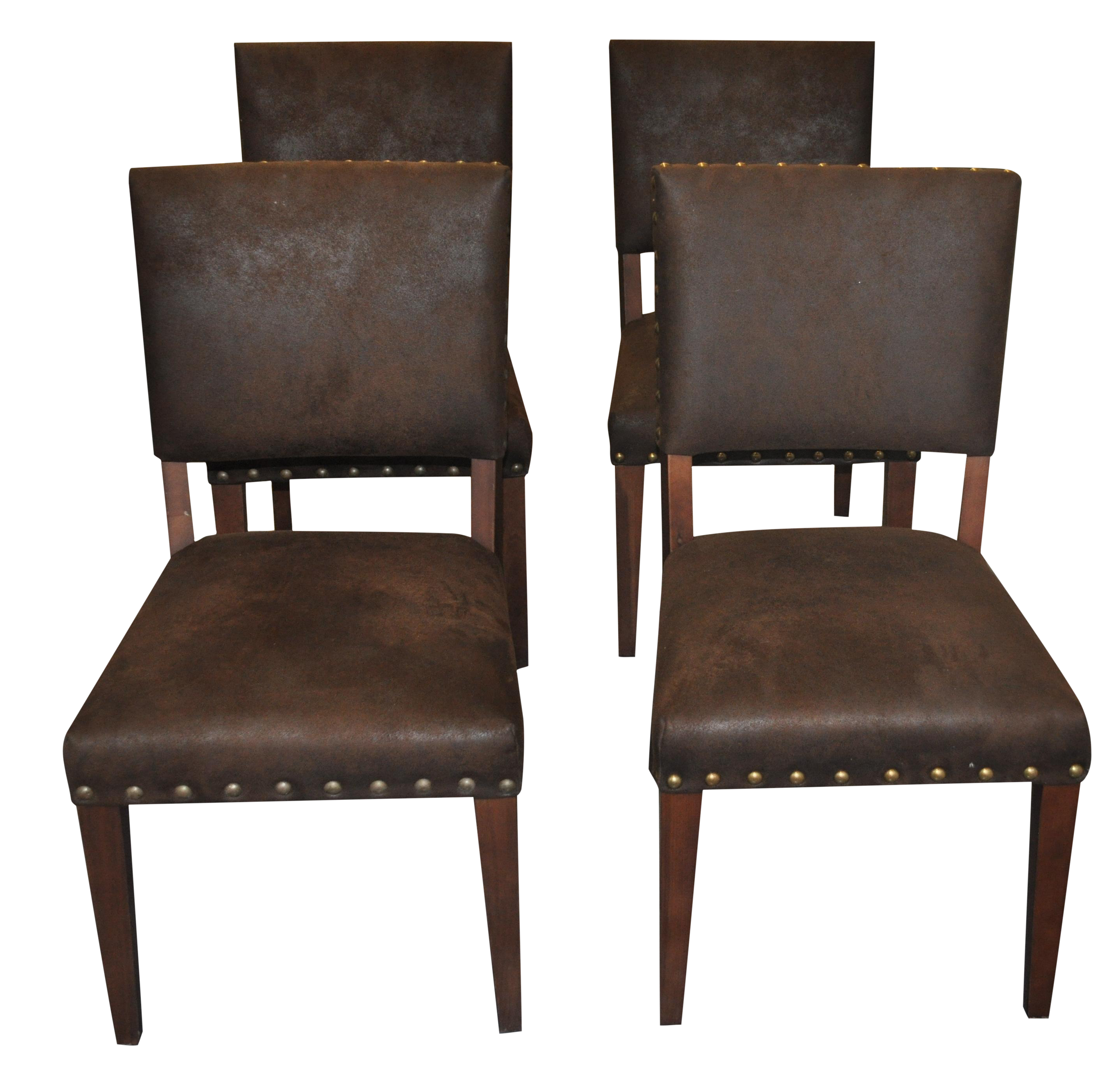 suede dining chairs by four hands set of 4 chairish