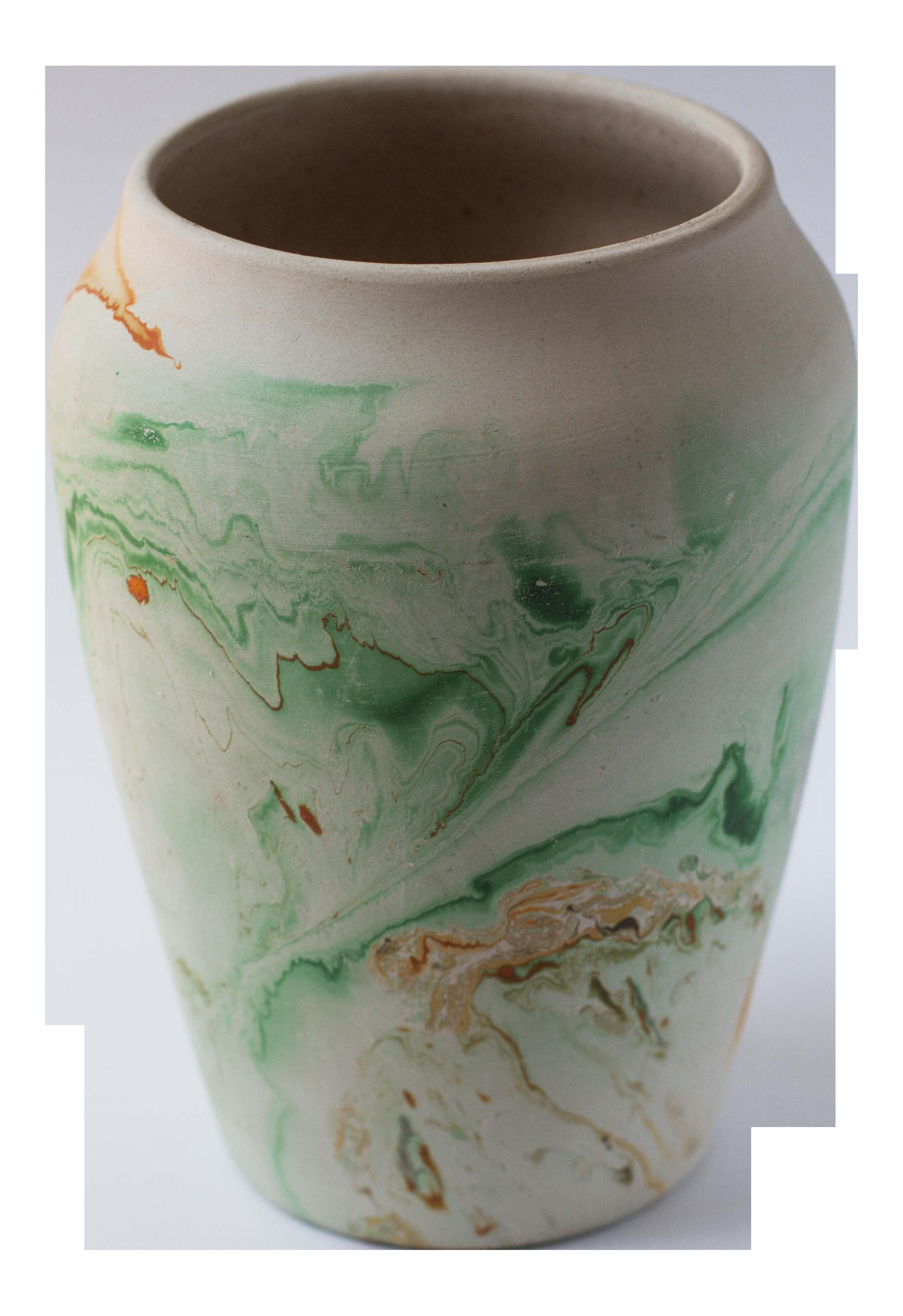 Vintage Green Nemadji Pottery Vase Chairish