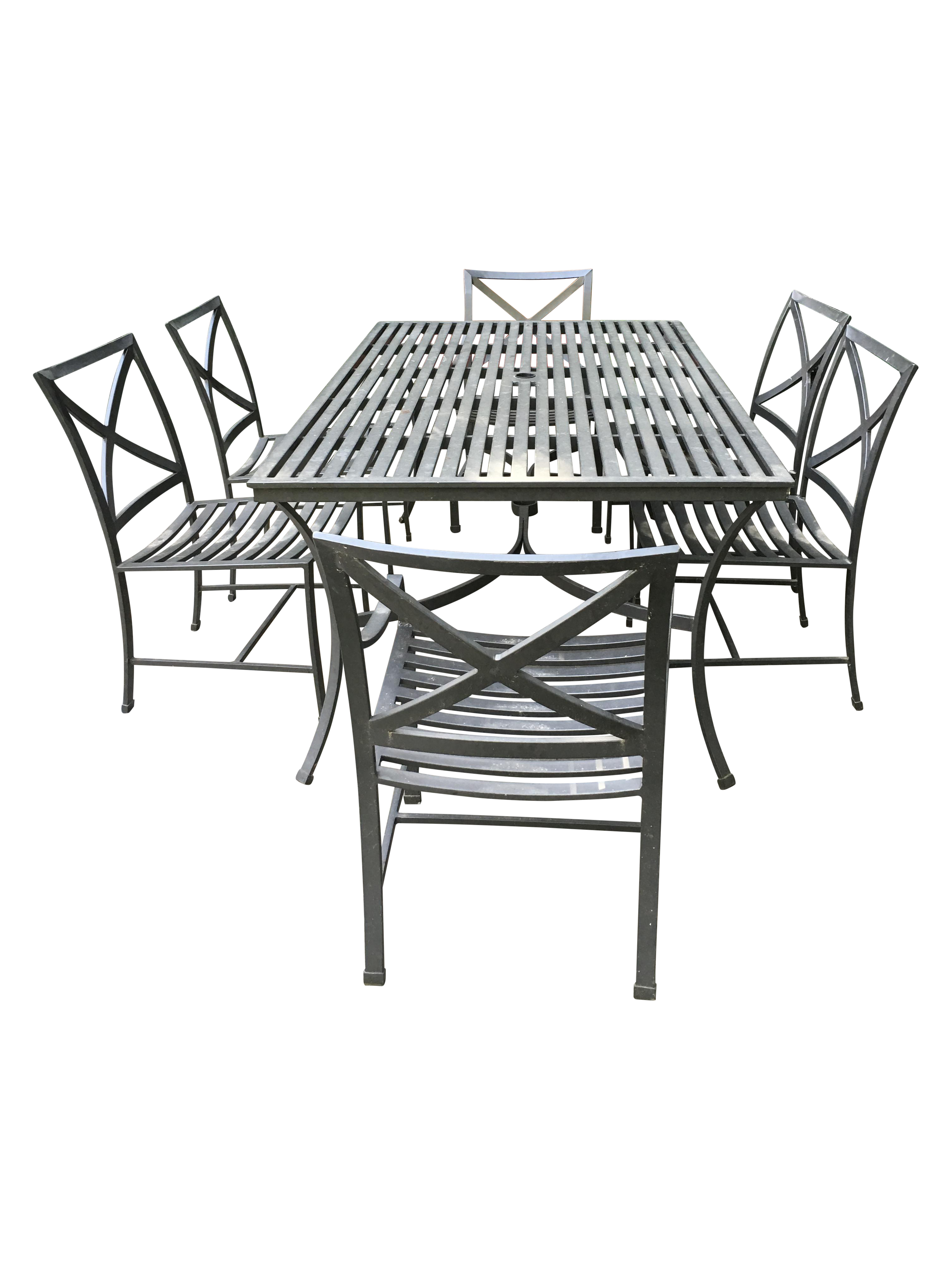 restoration hardware outdoor dining table  u0026 chairs