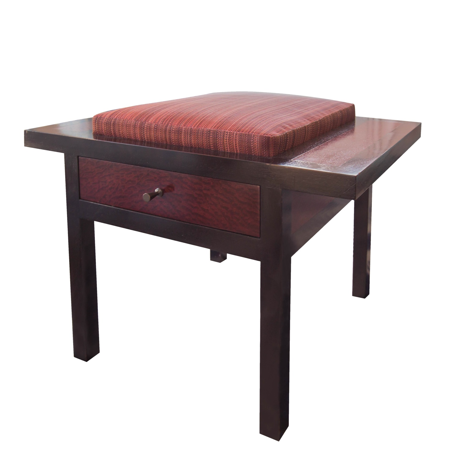 Holly hunt african mahogany storage stool chairish - Contemporary side tables with storage ...