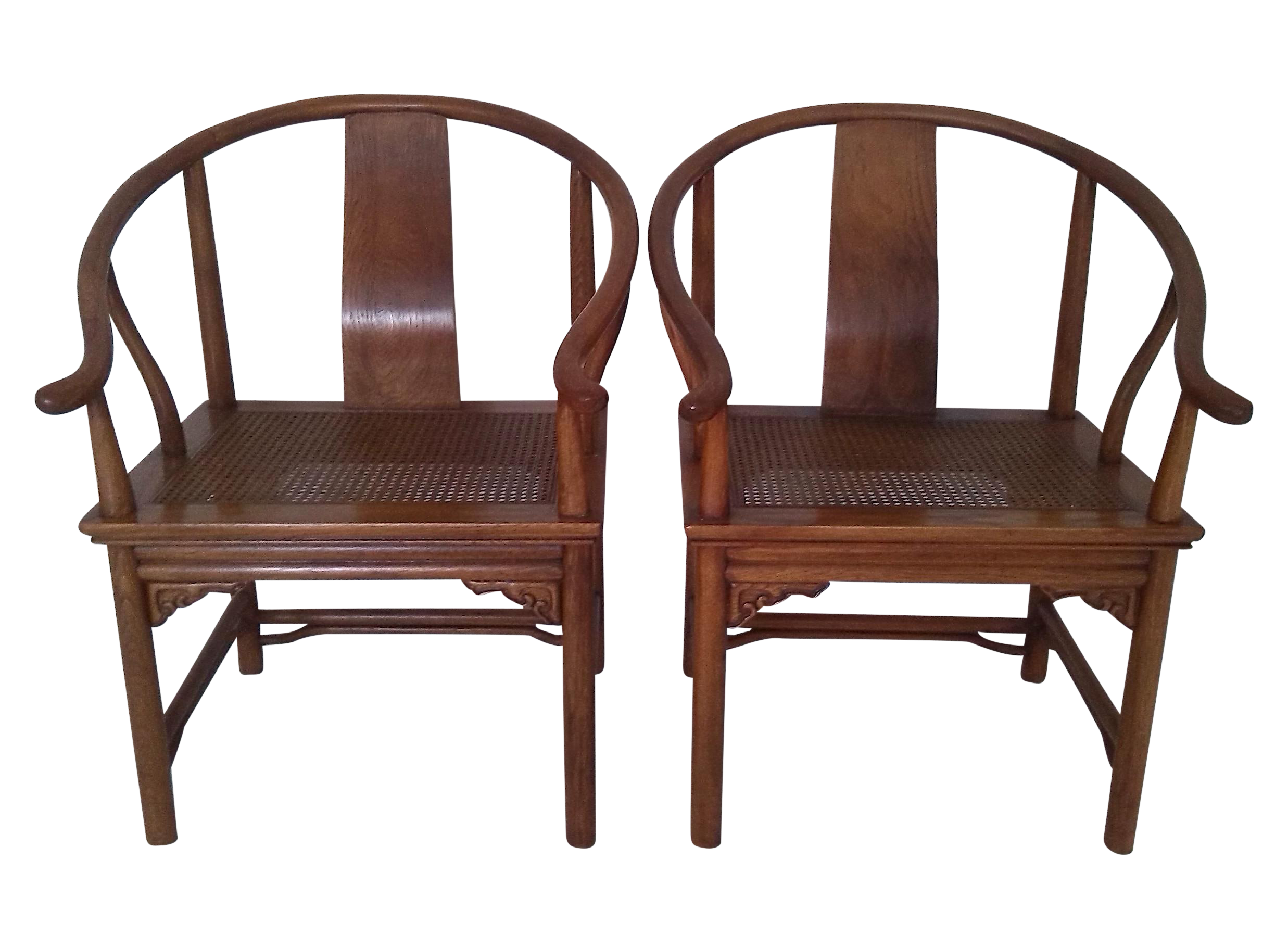 Ming Style Caned Chinese Arm Chairs Pair Drexel Chairish