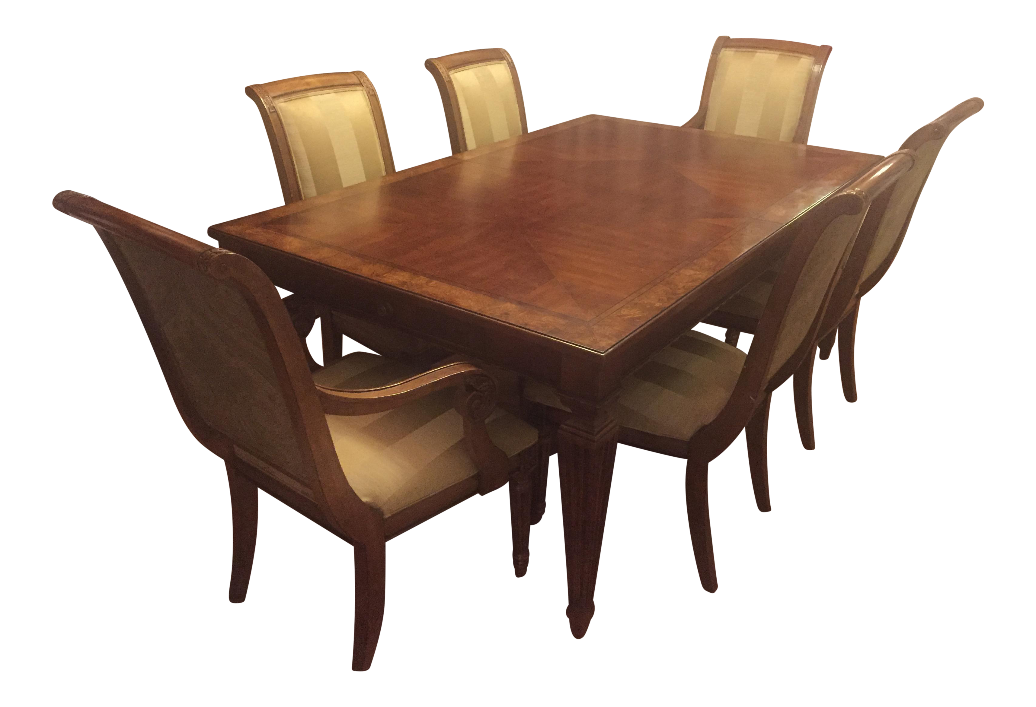 Ethan allen goodwin dining table adison side chairs for Side chairs for dining table