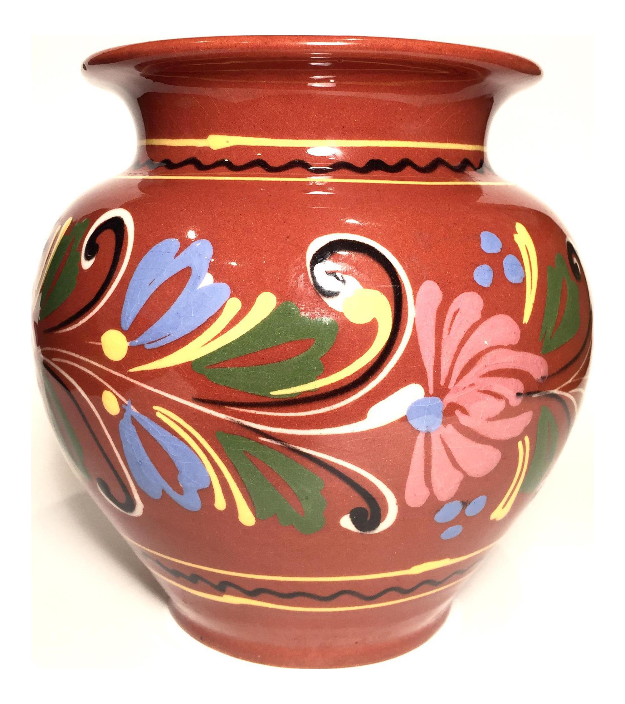 Vintage Mexican Tonala Vase | Chairish