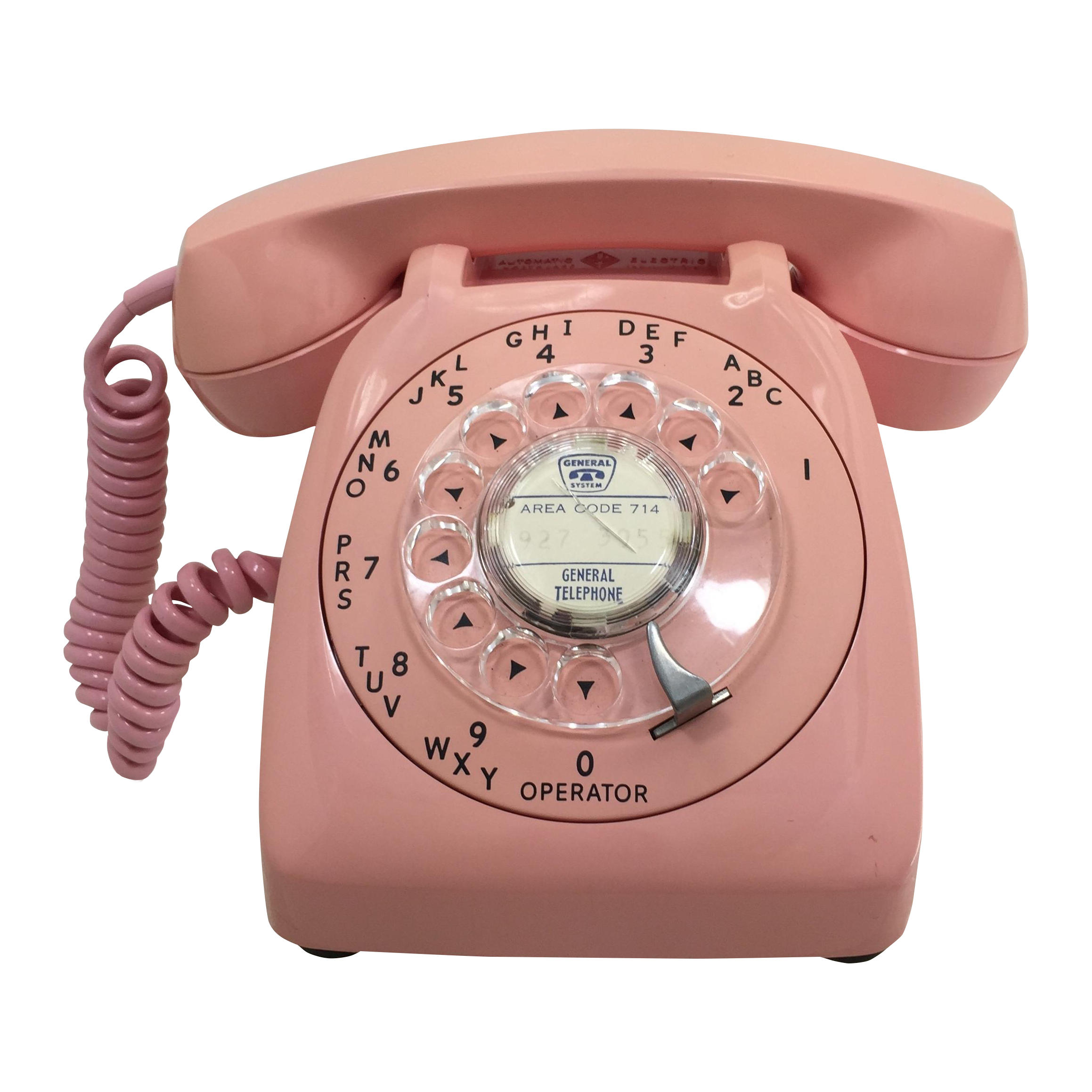 Vintage Pink Automatic Electric Rotary Dial Phone Chairish