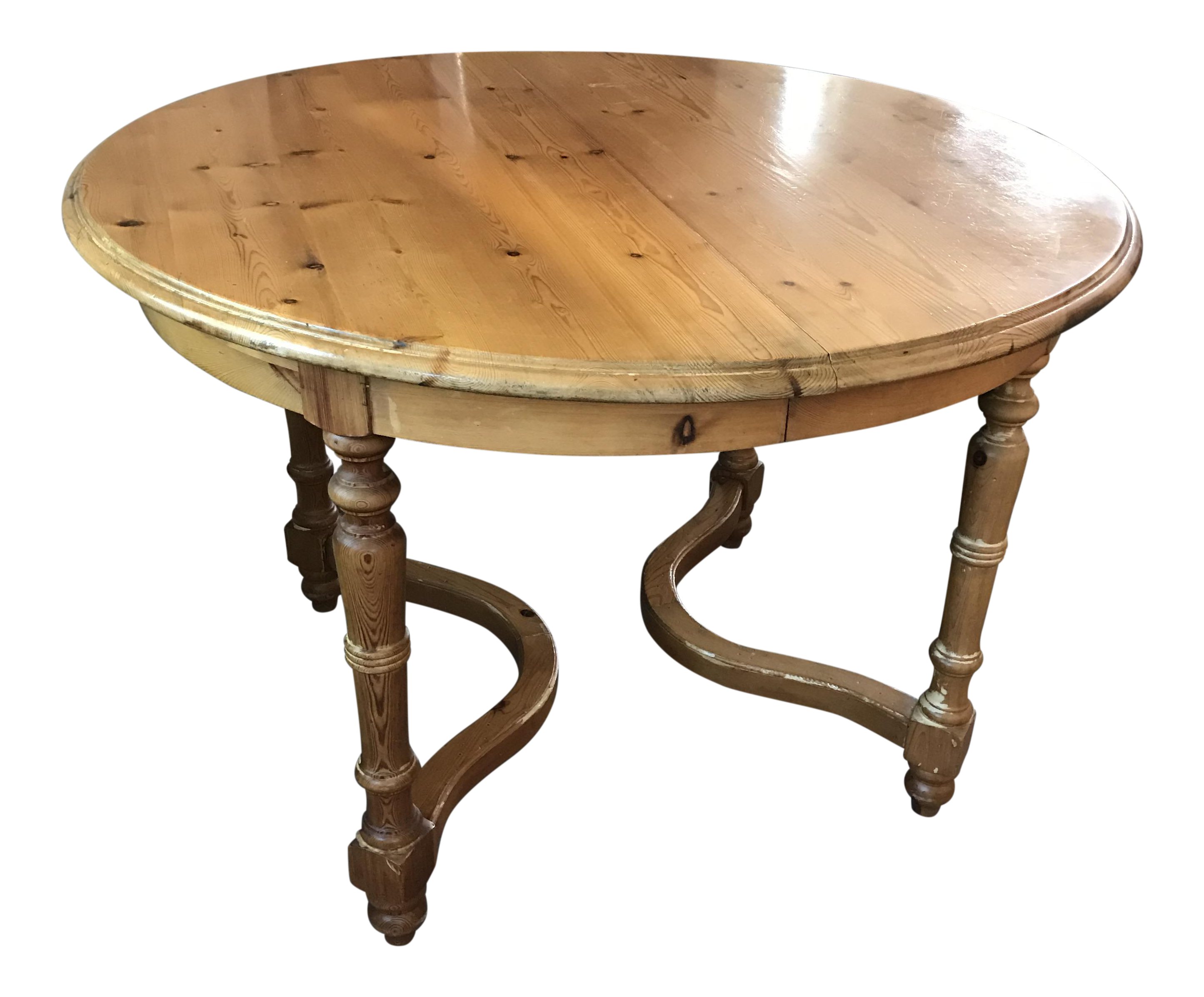 Thomasville Replica Series Round Pine Dining Table With Leaf