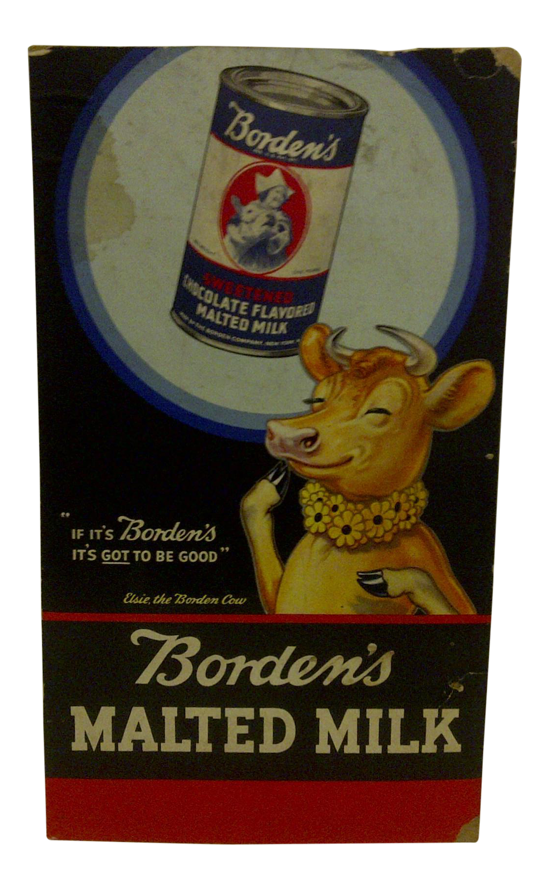 Vintage Borden S Malted Milk Advertising Poster Quot Elsie