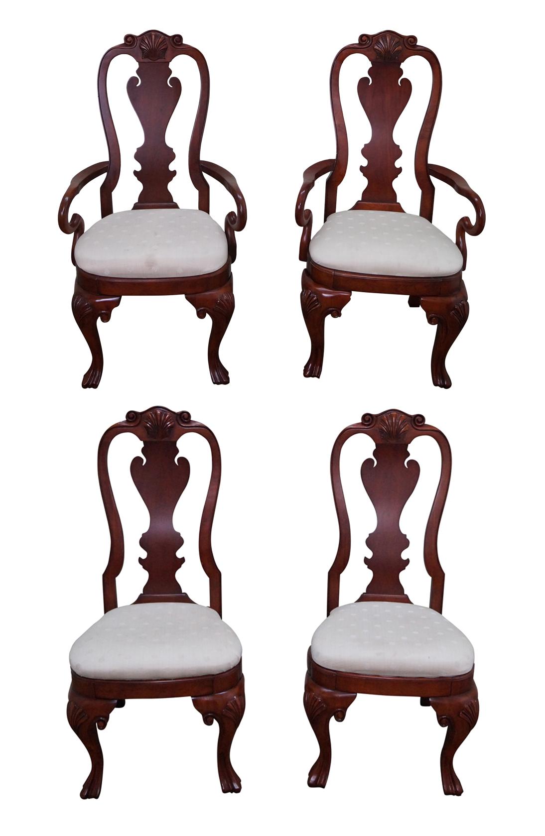 - Pulaski Antiques Roadshow Queen Anne Chairs - 4 Chairish