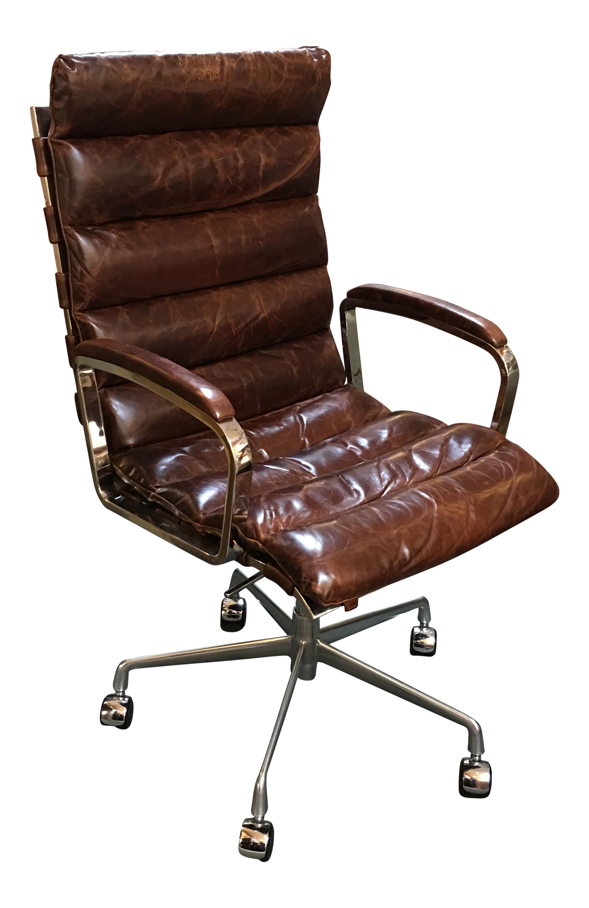 Tan leather office chair - Image Of Restoration Hardware Oviedo Cocoa Leather Office Chair