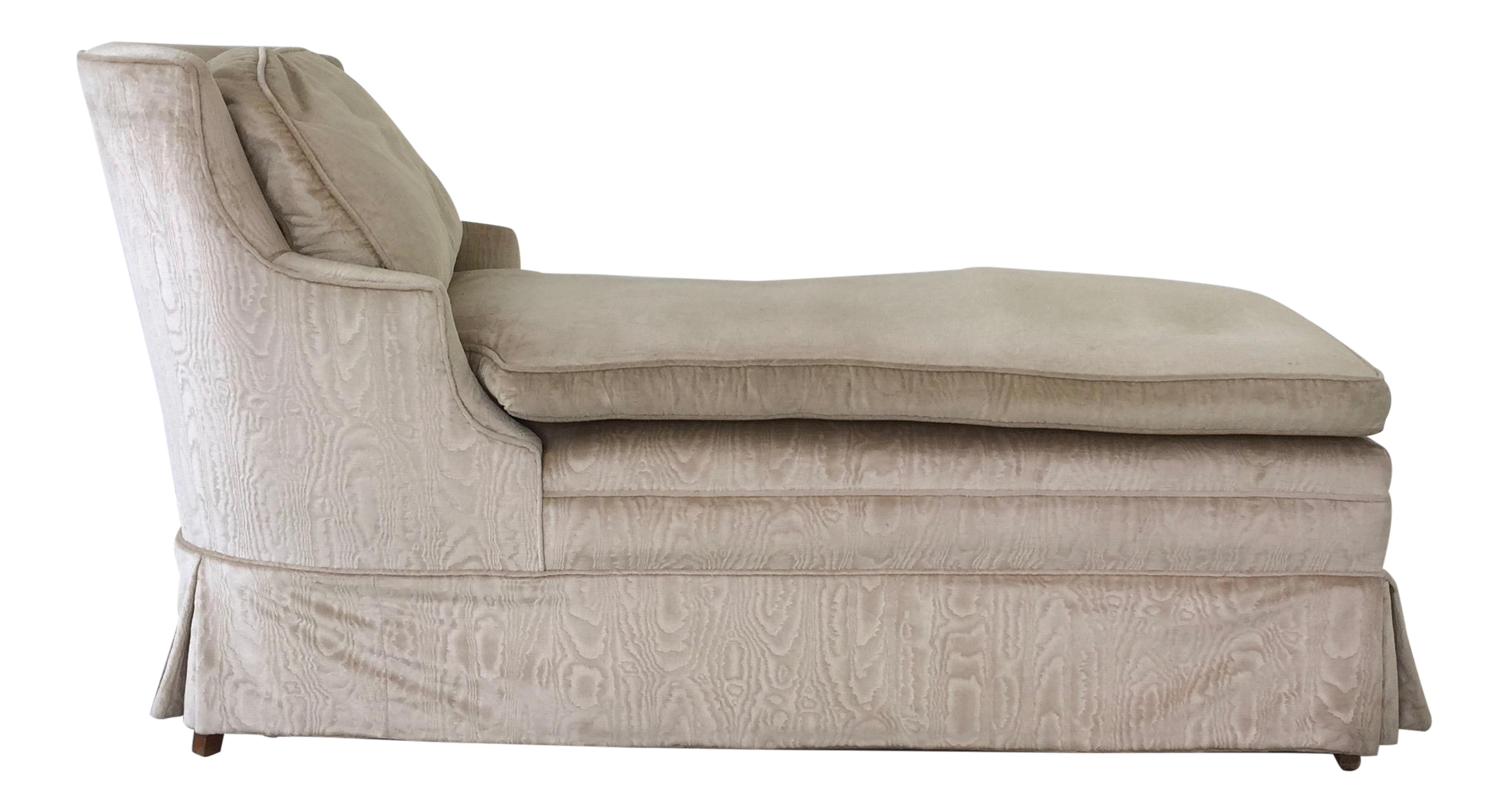 Vintage upholstered chaise longue chairish for Chaise longue northern ireland