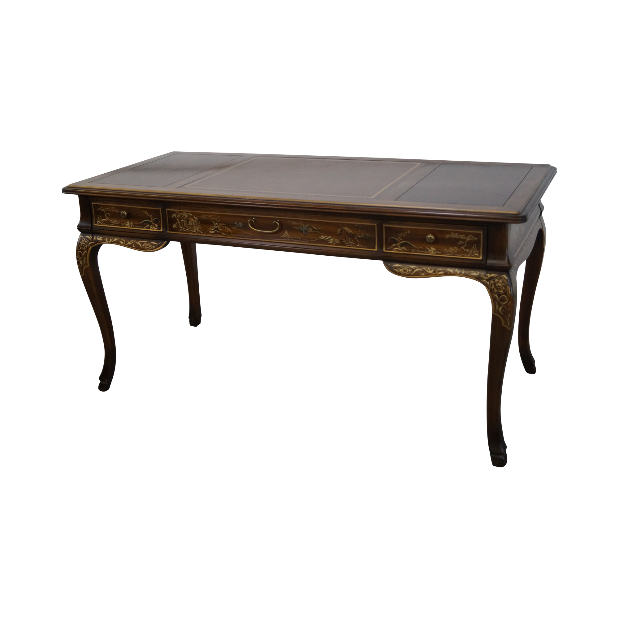 Drexel Heritage Chinoiserie Leather Top Desk