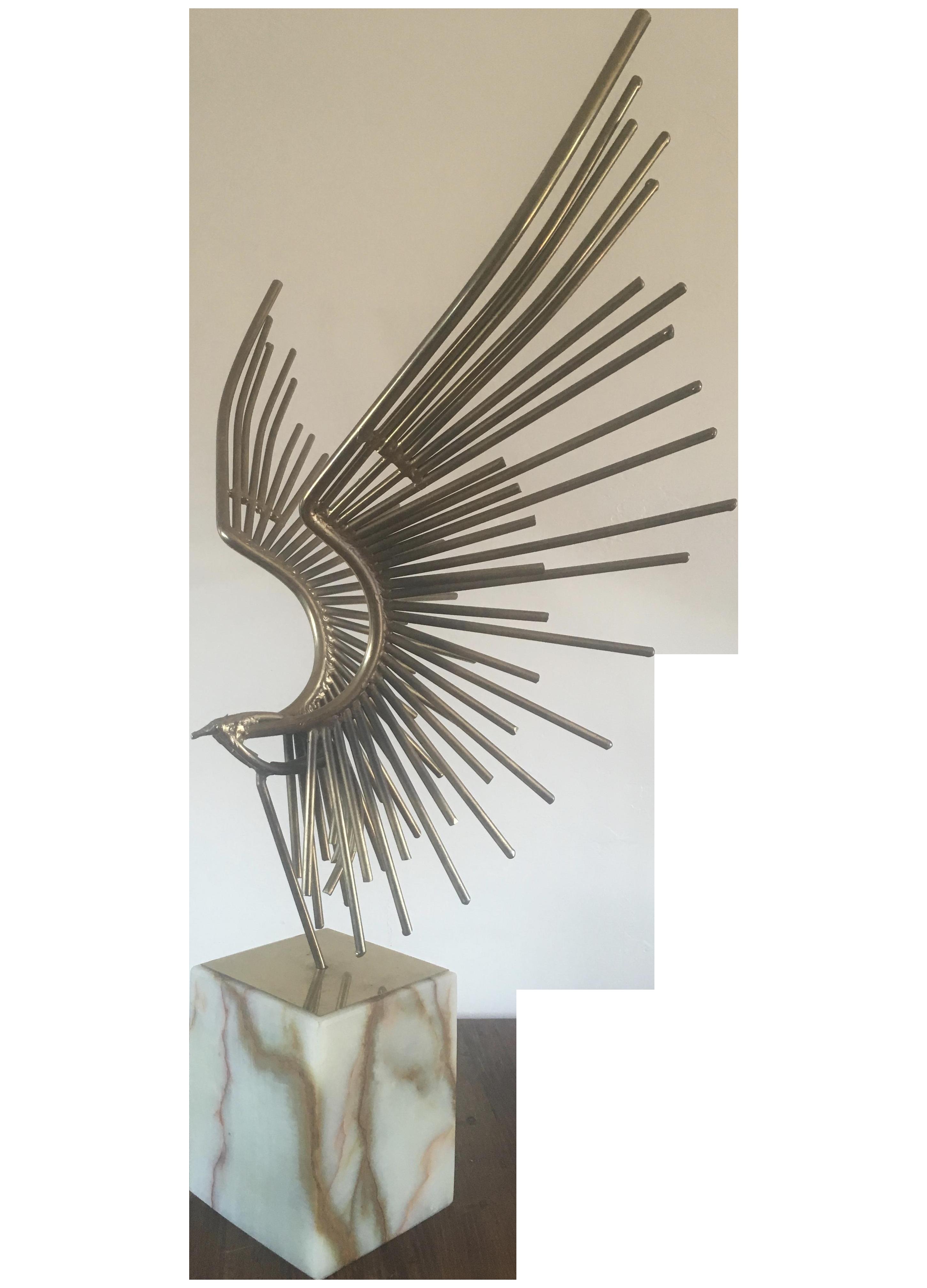 Curtis Jere Brutalist Bird Sculpture Chairish