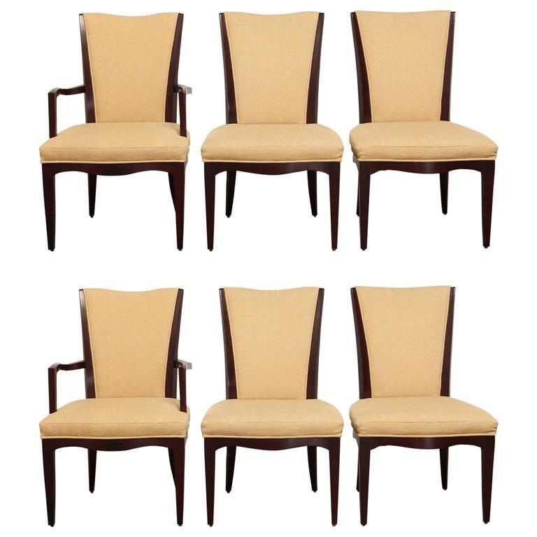 Barbara Barry For Baker Dining Chairs Set Of 6 Chairish