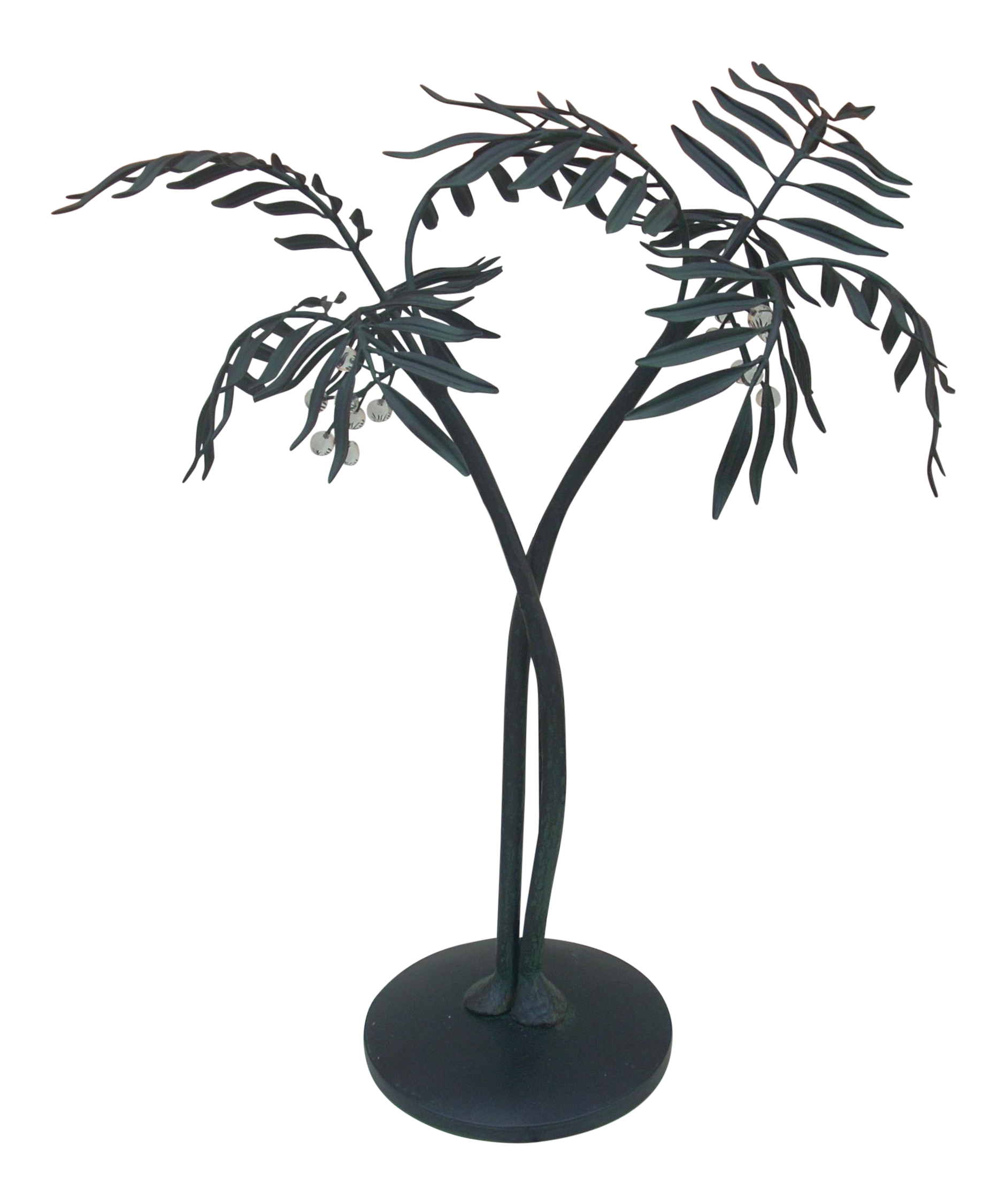 Metal Palm Tree Sculpture Chairish