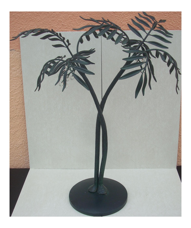Metal Palm Tree Sculpture Chairish