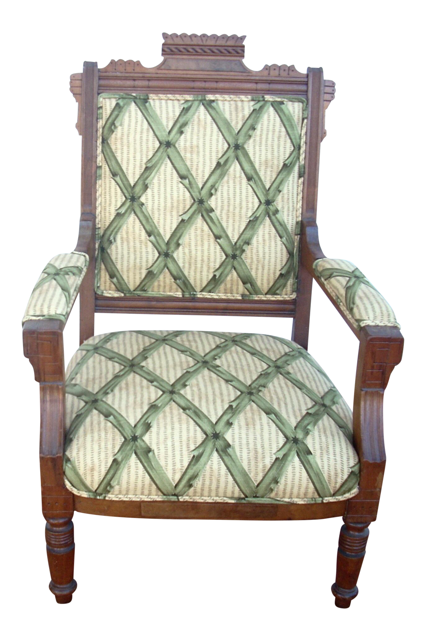 Antique upholstered chair styles - Victorian Eastlake Style Upholstered Slipper Chair