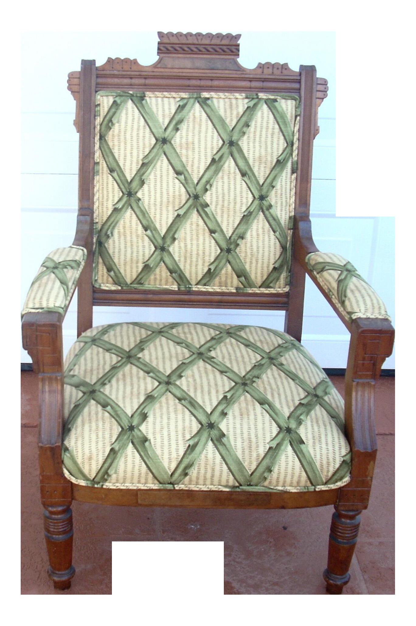 Victorian Eastlake Style Upholstered Slipper Chair