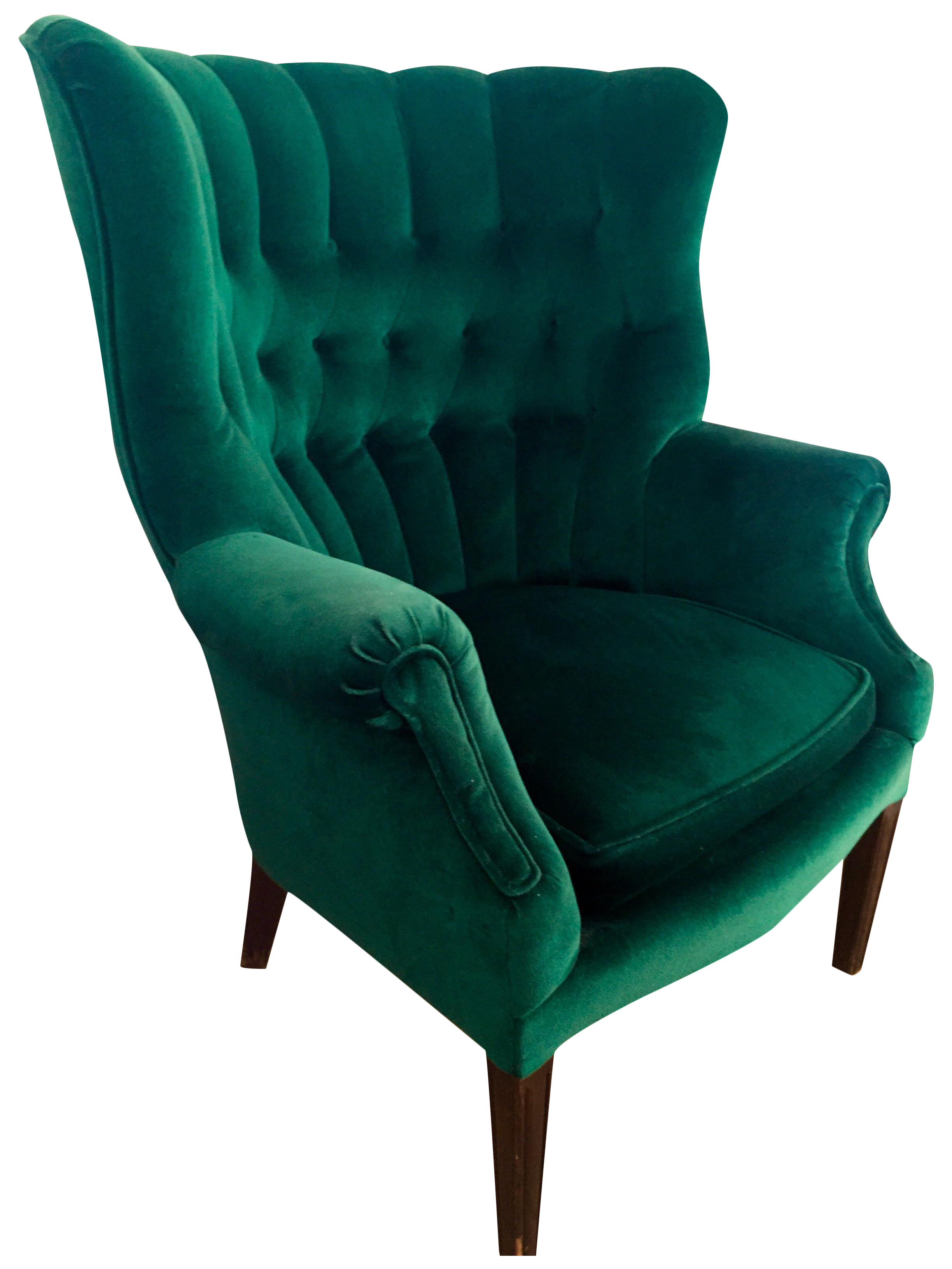 Vintage Emerald Green Armchair Chairish