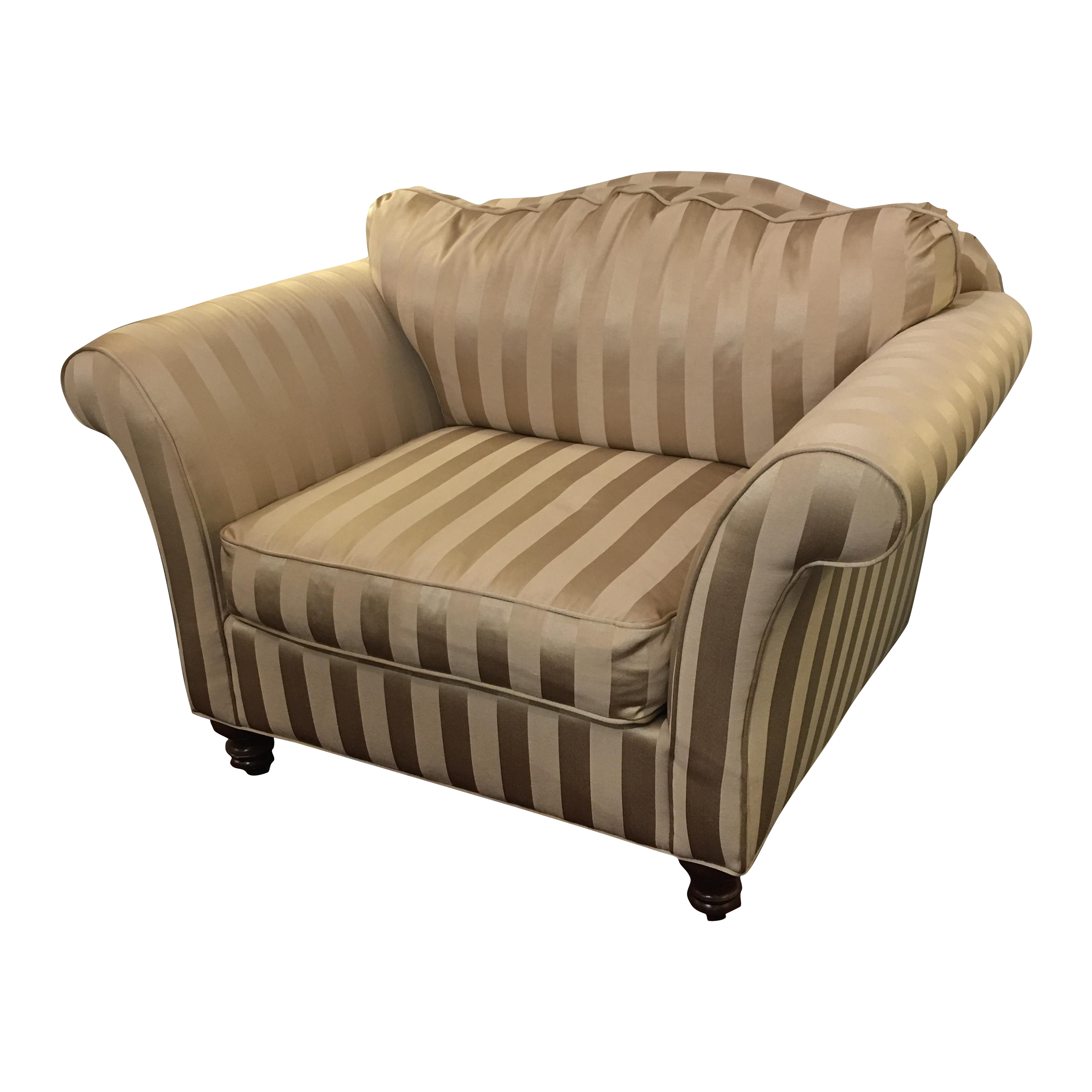 Z Gallerie Upholstered Striped Cream Chair Chairish