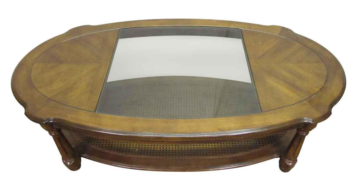 Glass Top Insert Coffee Table Chairish