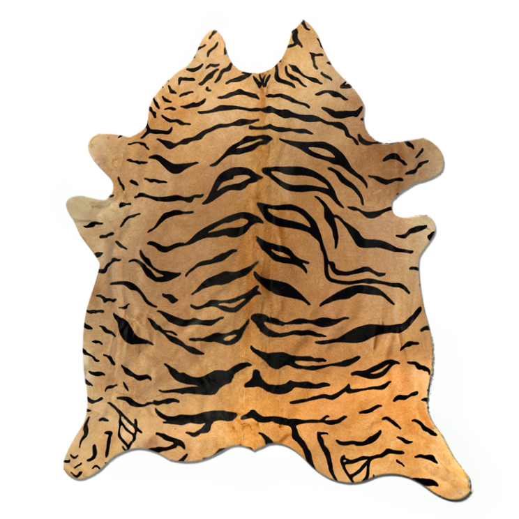 Handmade Tiger Print Cowhide 6 X 7 Chairish
