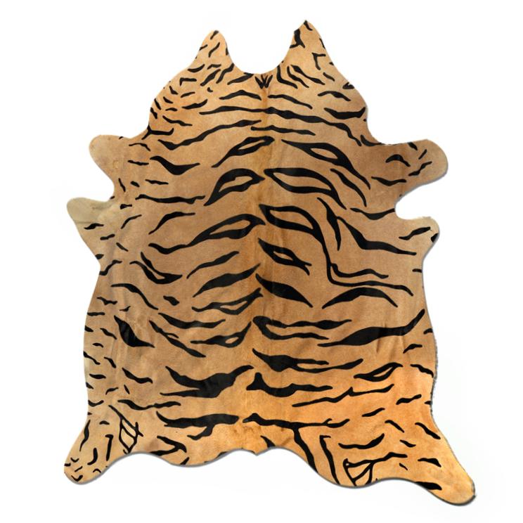 Handmade Tiger Print Cowhide 6 X 7 Chairish