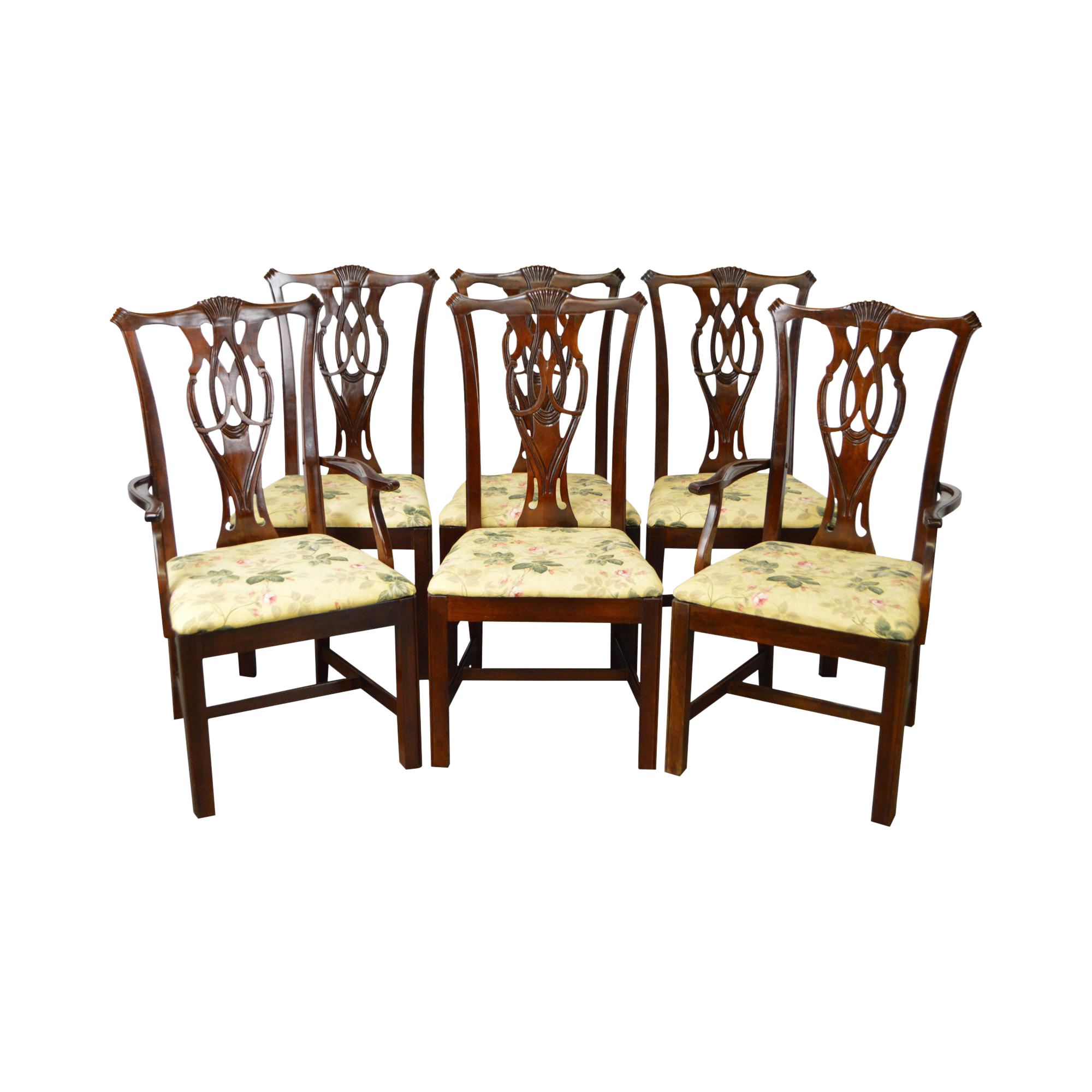 Thomasville Chippendale Style Dining Chairs Set of 6