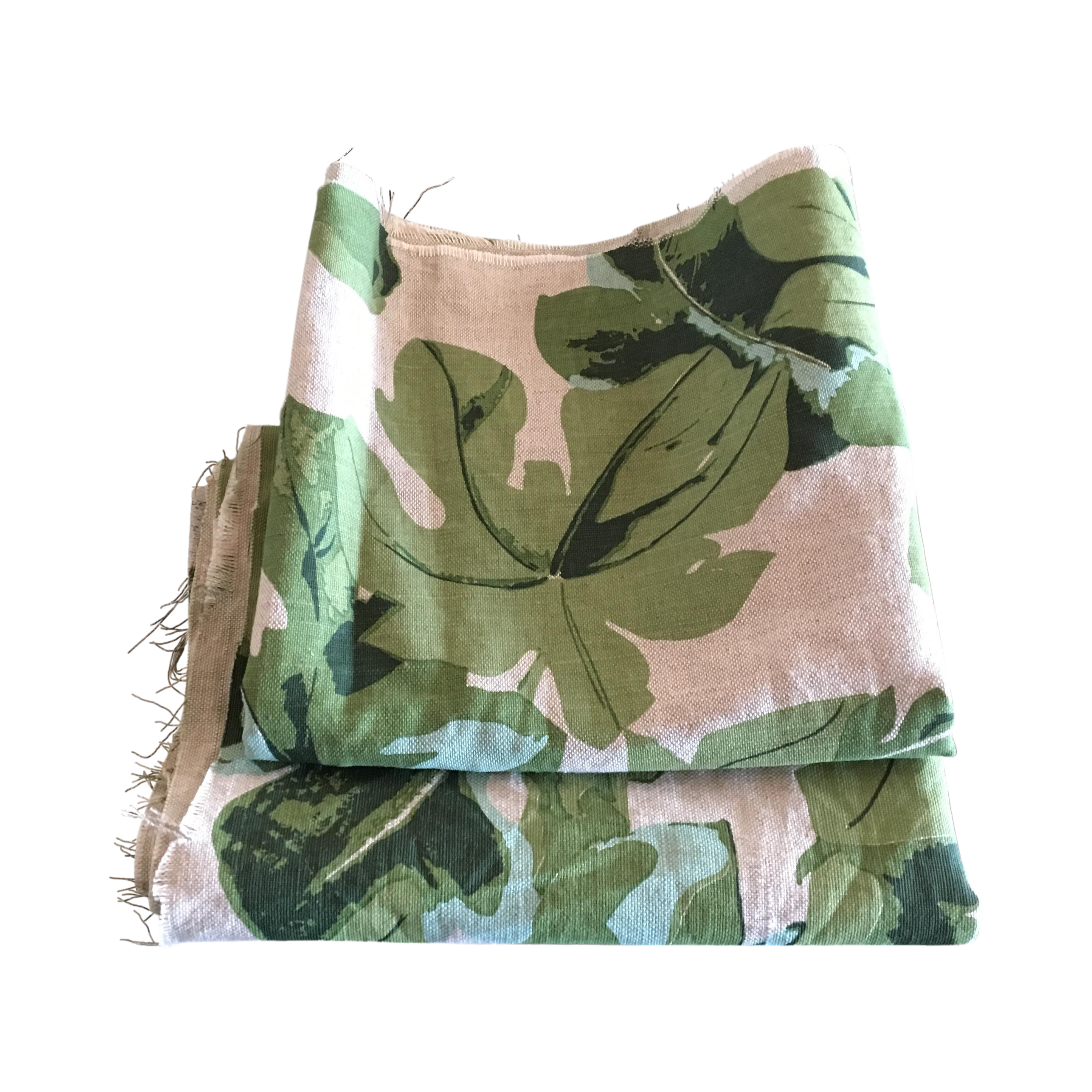 Fiddle leaf fig fabric remnant chairish for Sofa bed 92870