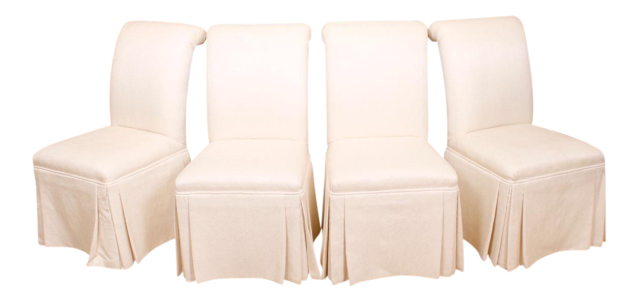Roche bobois upholstered dining chairs set of 4 chairish for Armoire roche bobois