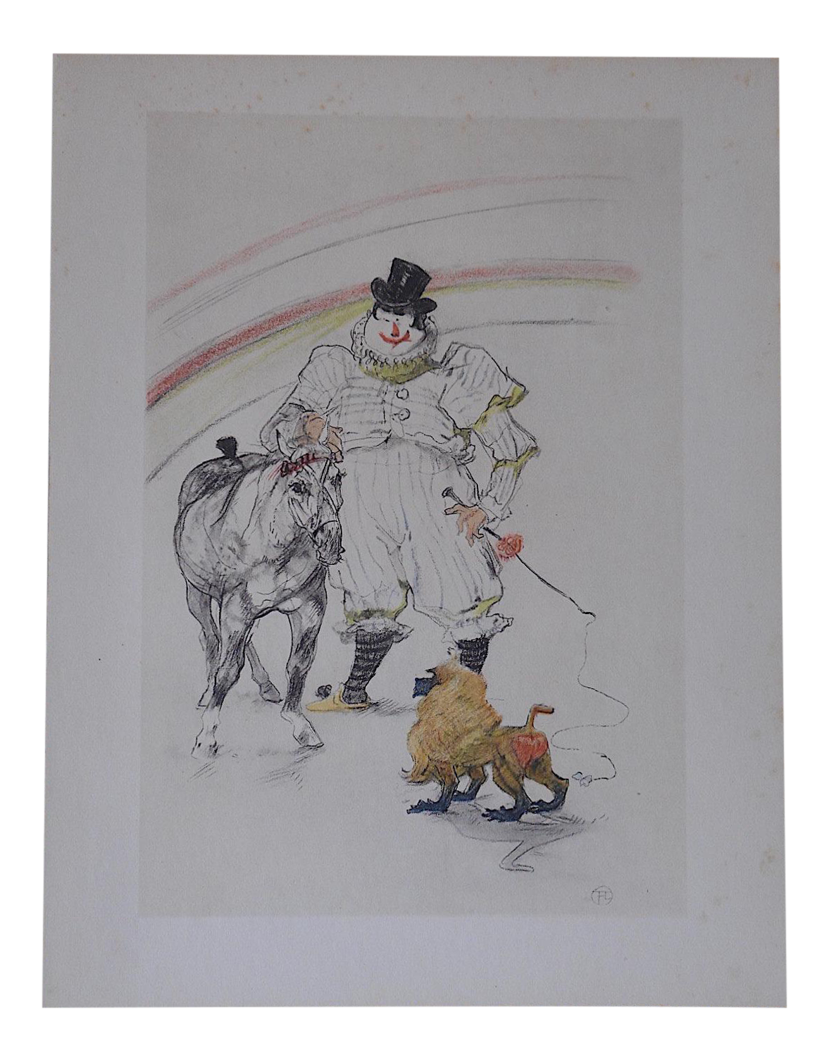 Vintage Toulouse Lautrec Lithograph The Circus Chairish
